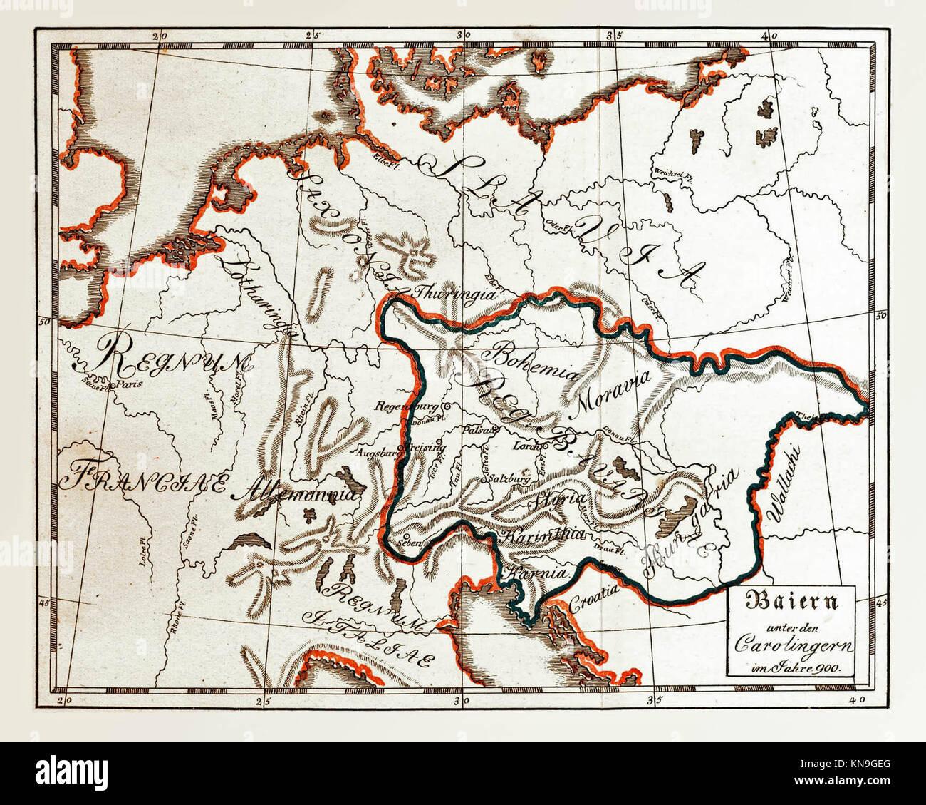 Kingdom of Bavaria 900 - Stock Image