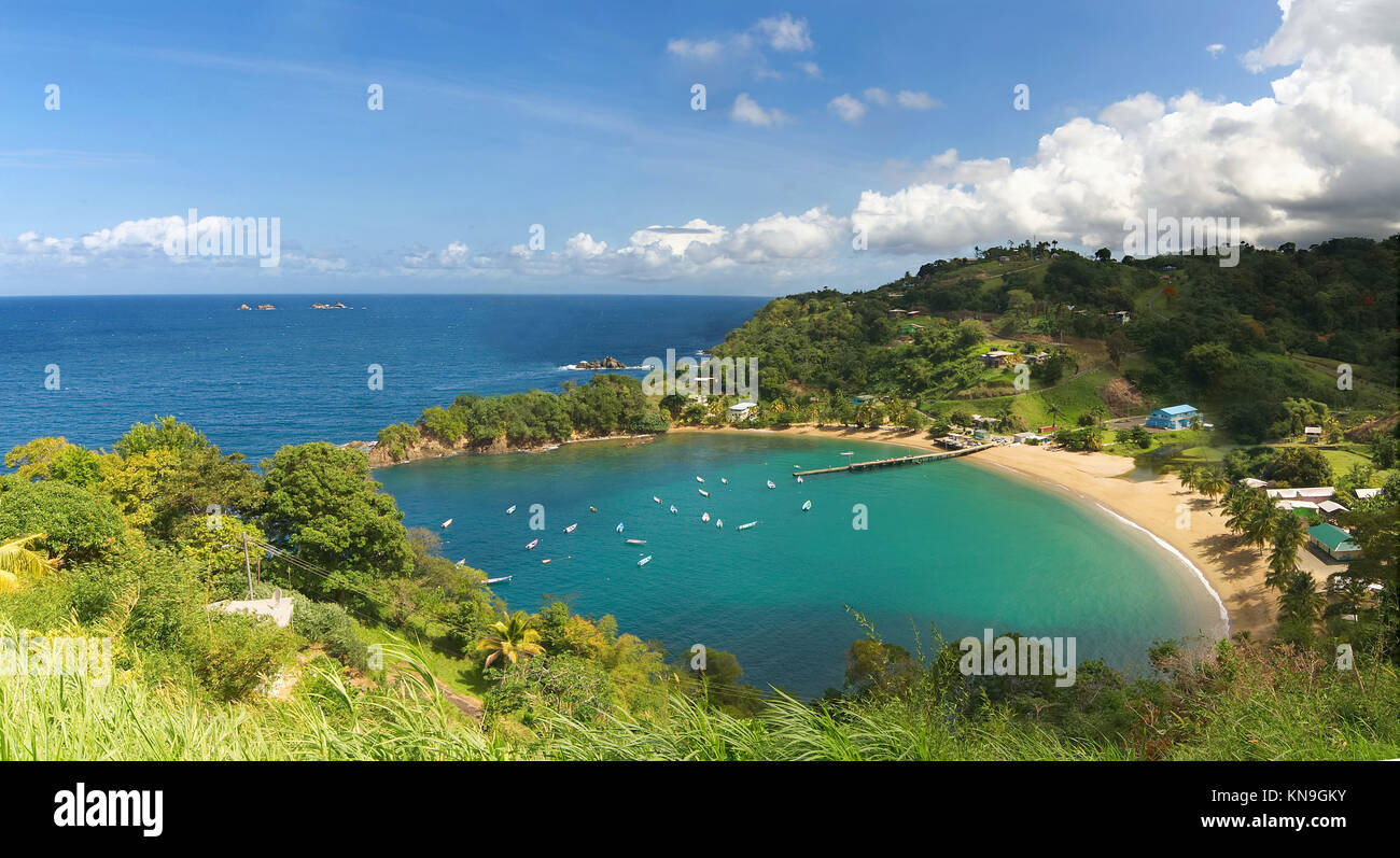 Parlatuvier bay - Caribbean sea - West indies - Antilles - Tobago - Stock Image