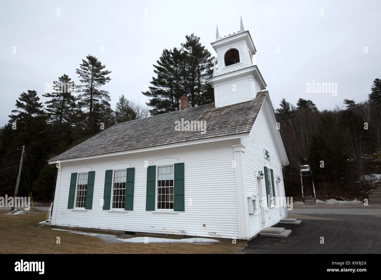 Historic Stark Union Church in Stark, New Hampshire, dating to the mid-19th century. - Stock Image