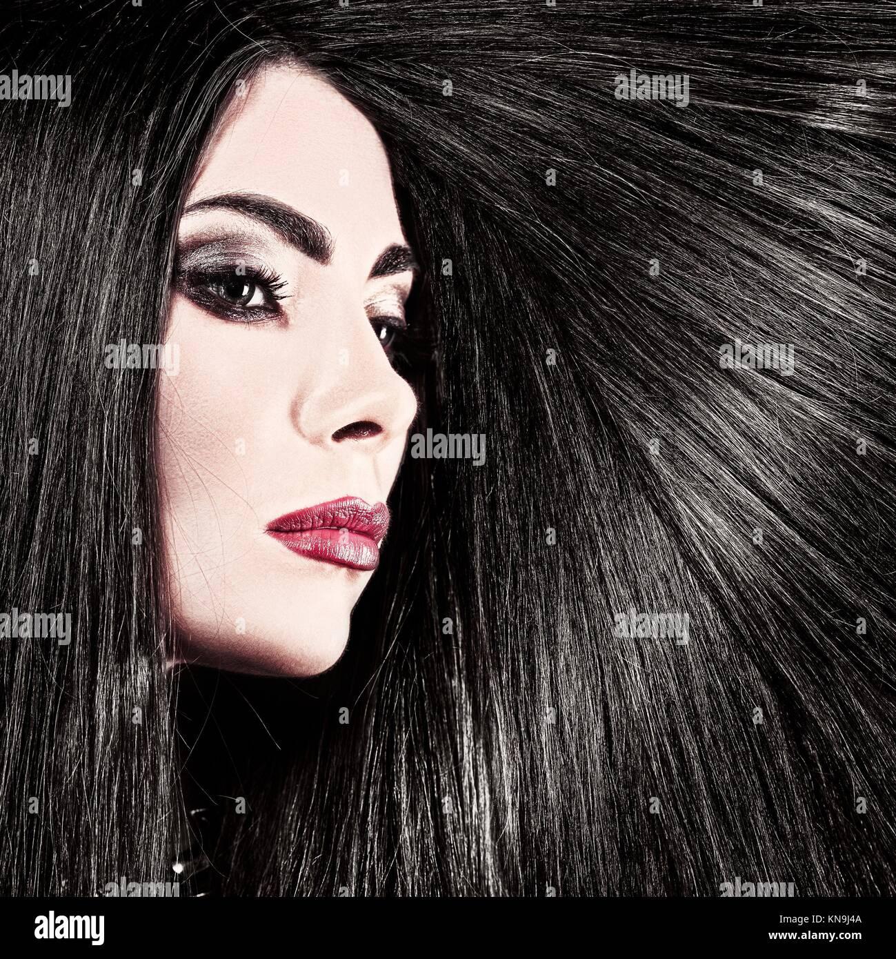 Hair. Beauty female portrait health care concept. - Stock Image