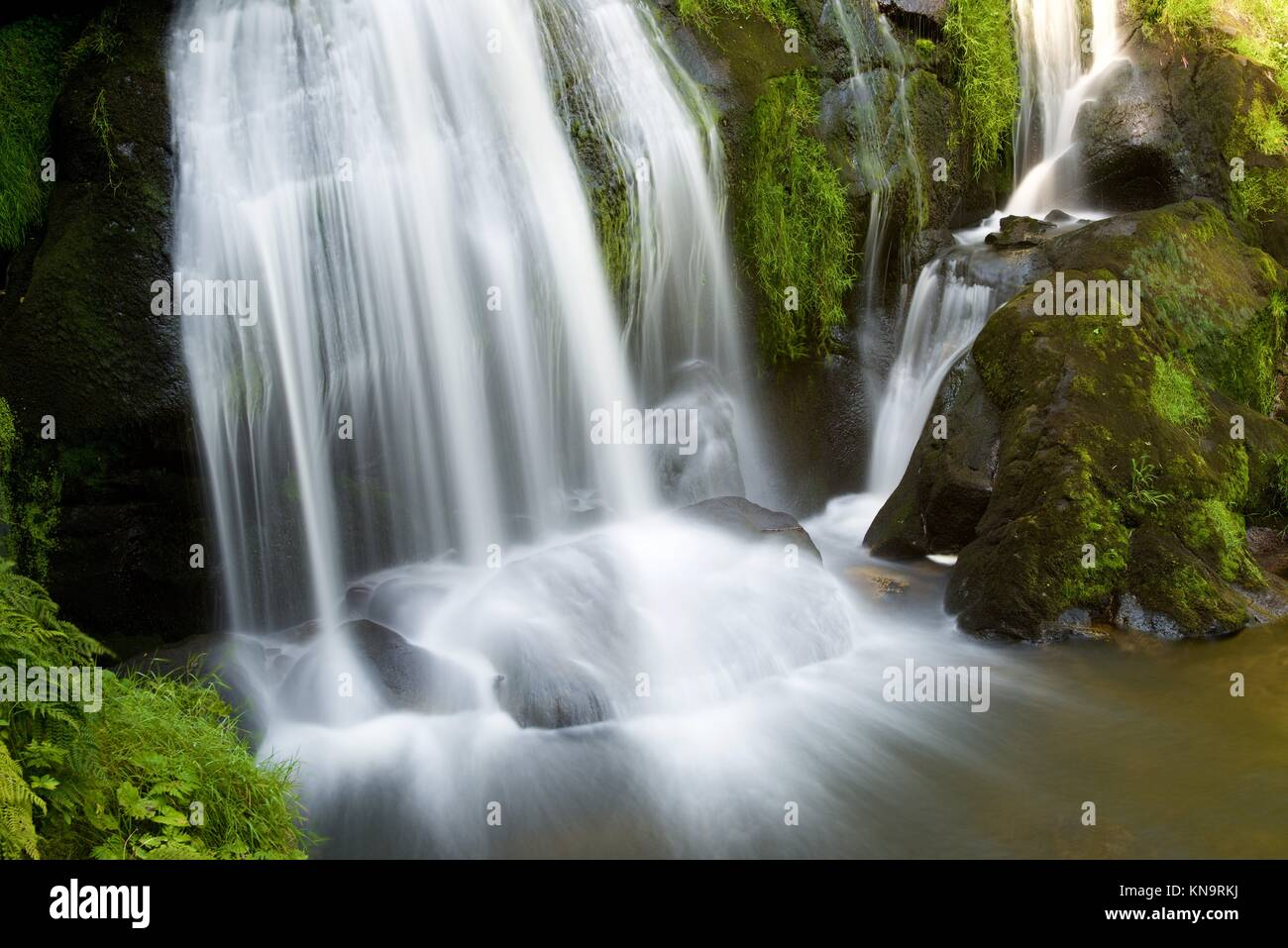 Waterfall in Triberg village, Black Forest, Germany. - Stock Image