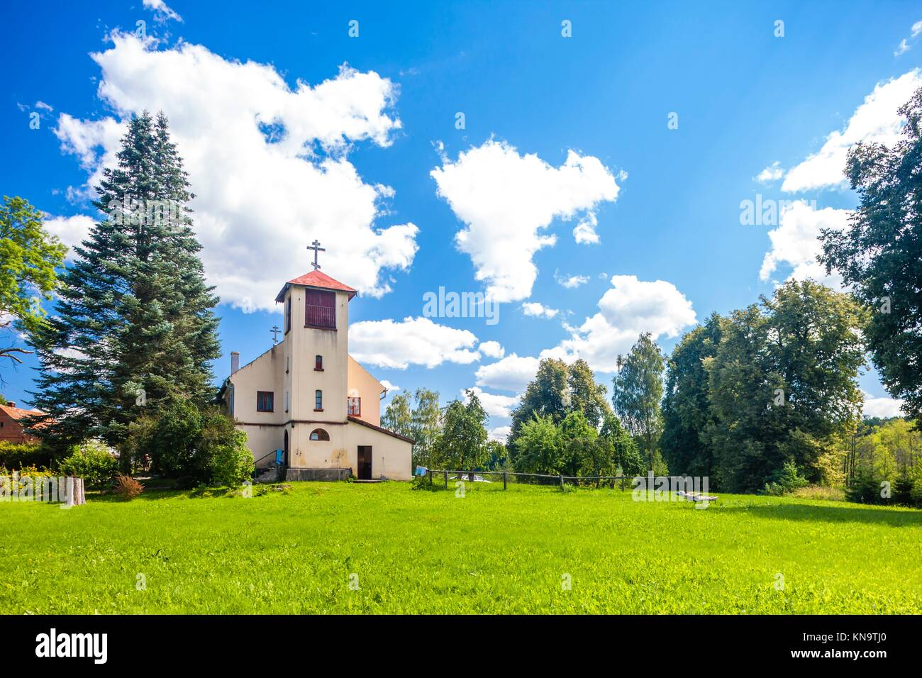 Monastery of the Old Believers, Wojnowo, Warmian-Masurian Voivodeship, Poland. - Stock Image