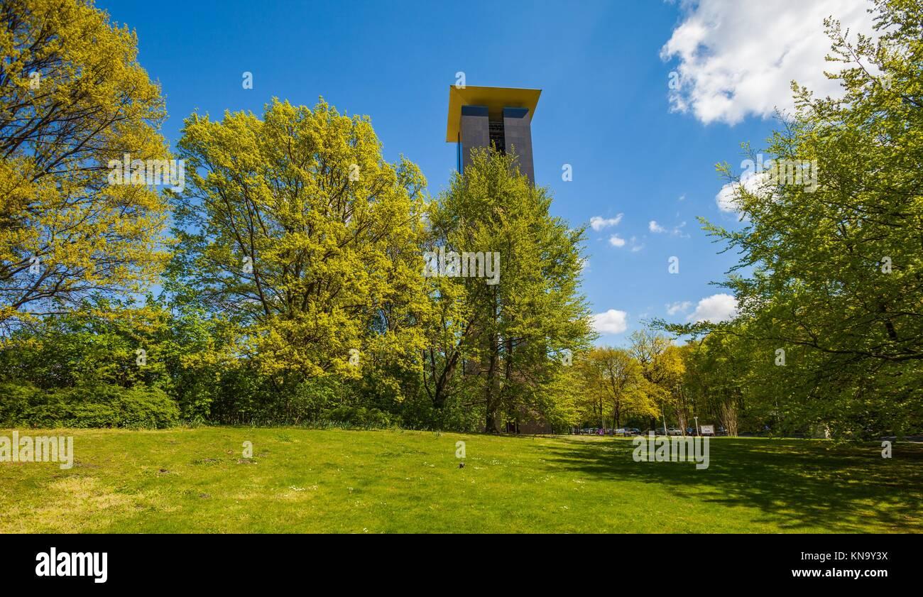 The Carillon (Glockenspiel) in Berlin´s Grosser Tiergarten in Berlin. The Carillon in Berlin is the biggest - Stock Image