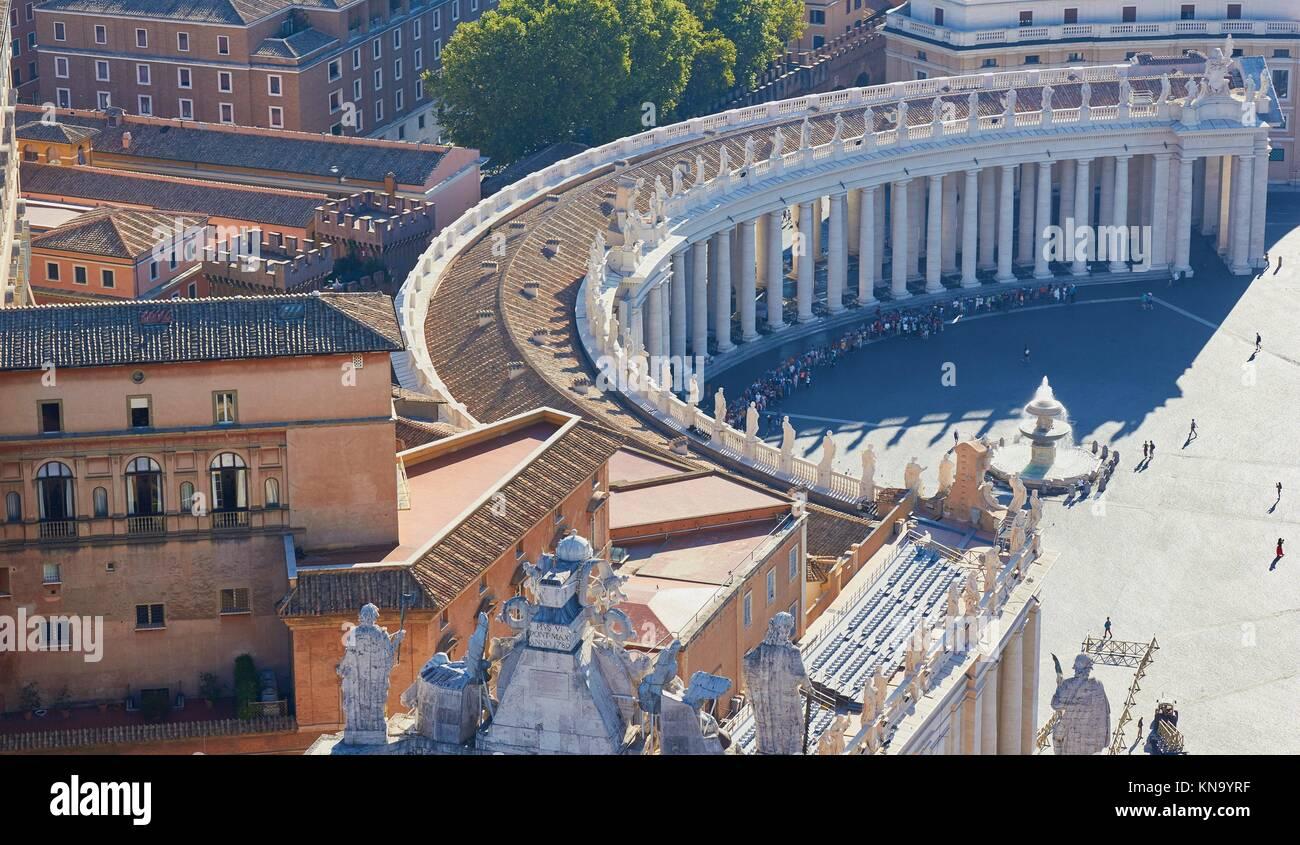 Piazza San Pietro from above, Rome, Lazio, Italy, Europe. - Stock Image