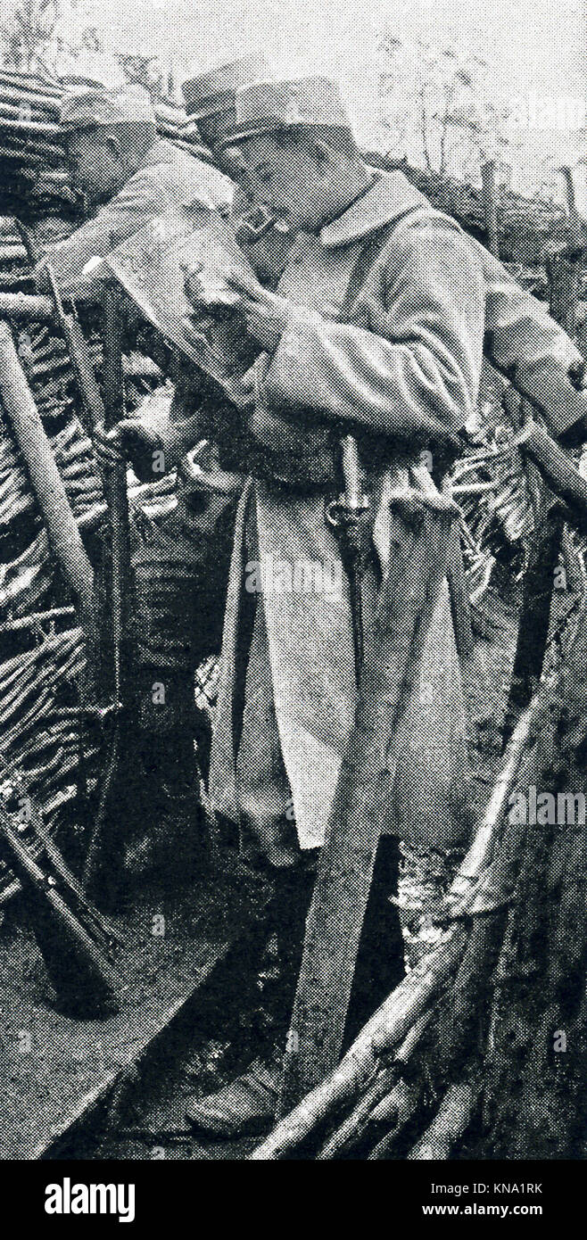 The caption for this photo that dates to between 1914 and 1917 (time of the First World War) reads: Scene in the - Stock Image