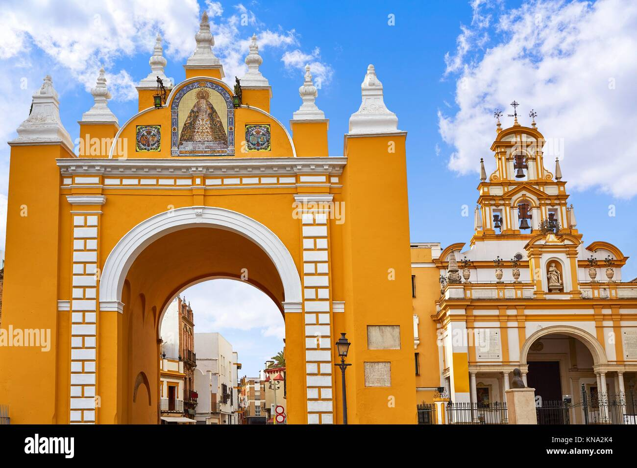 macarena door arch in seville spain. - Stock Image