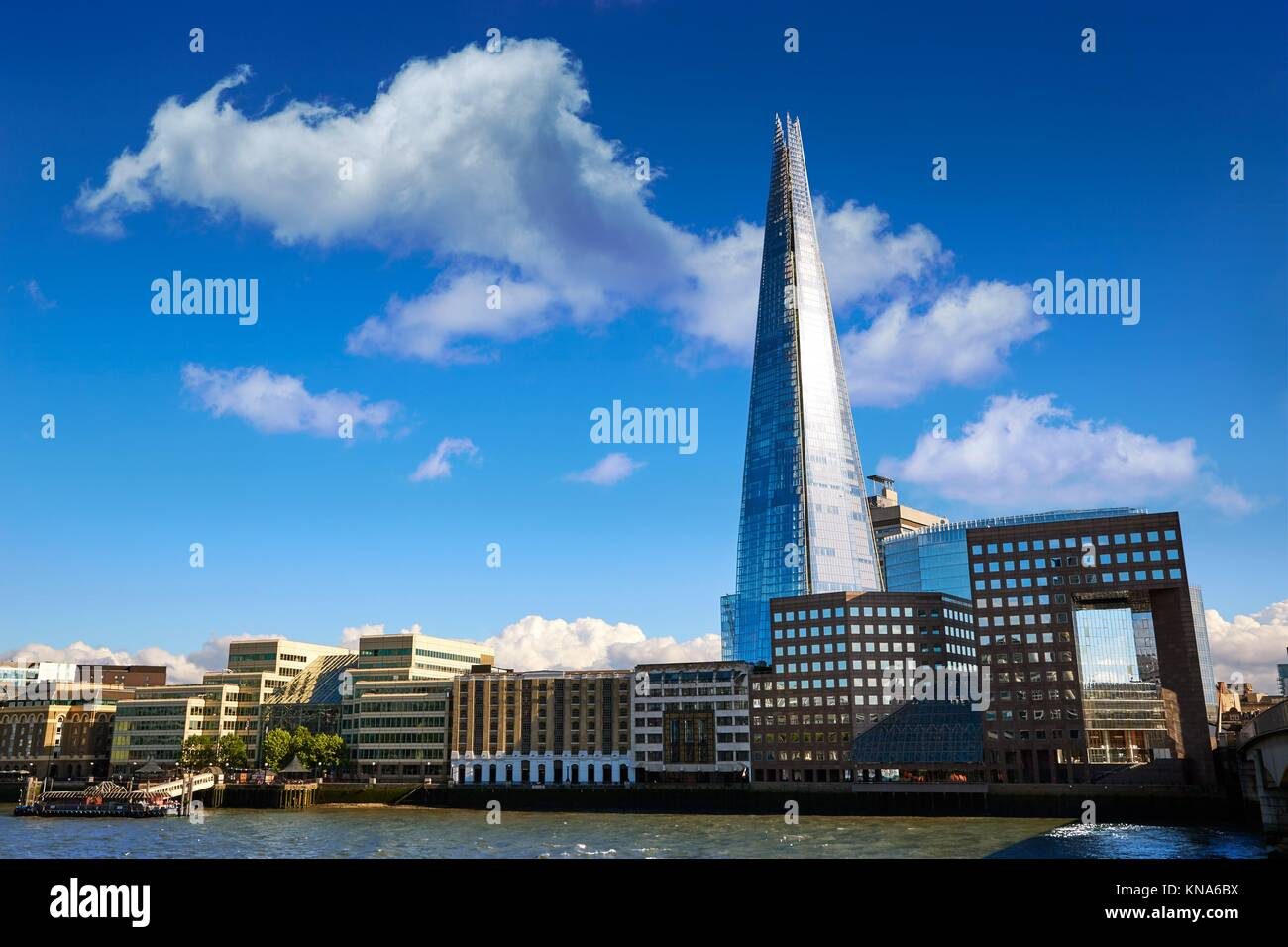 London skyline Shard on Thames river in UK. - Stock Image