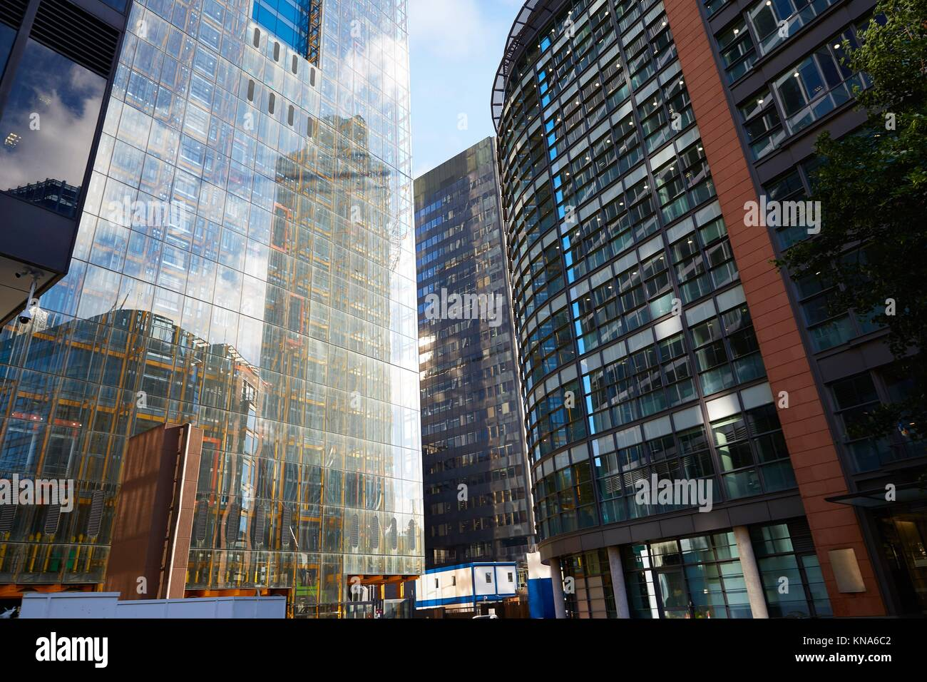 London financial district street Square Mile England UK. - Stock Image