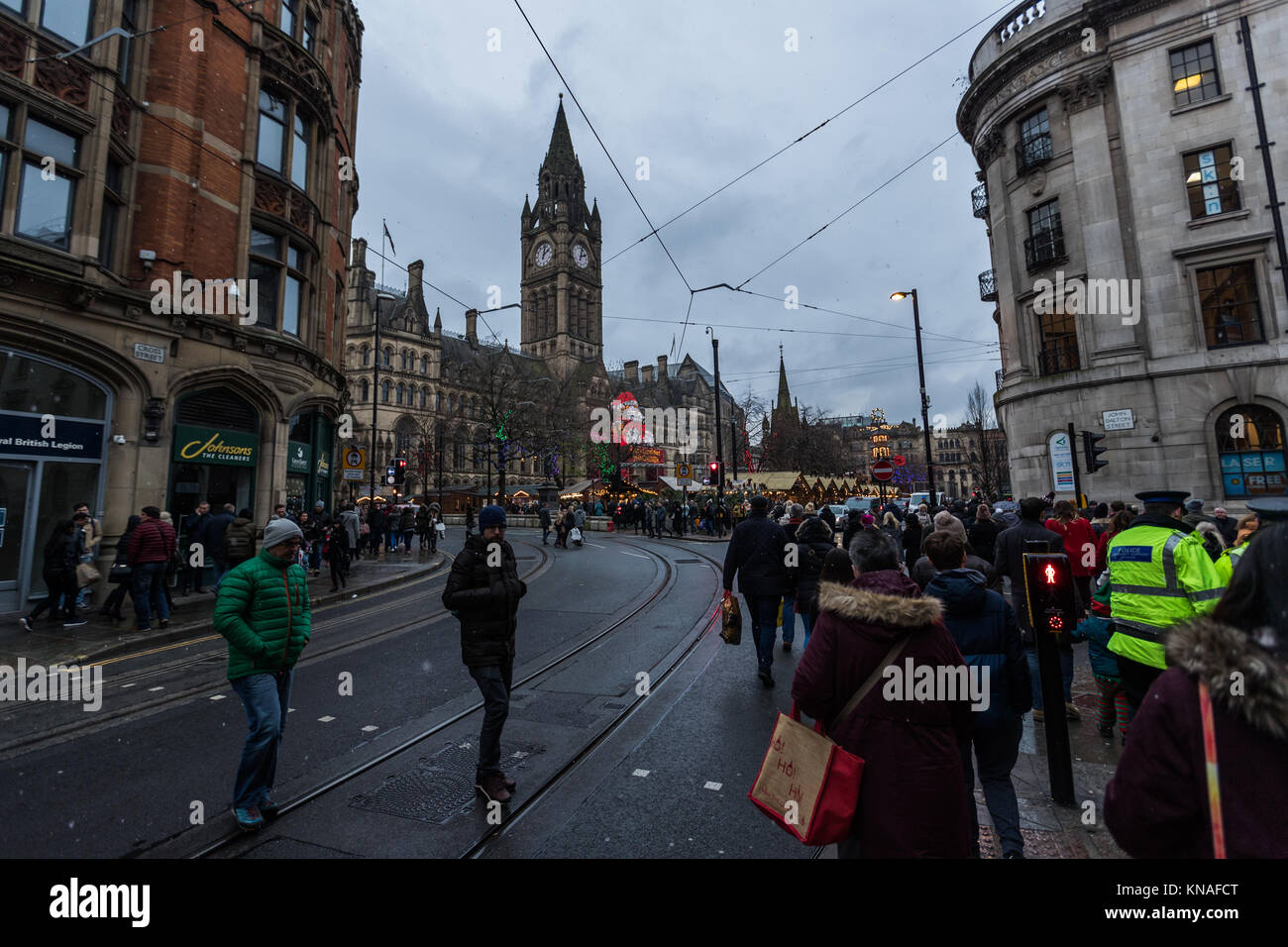Shoppers And Revellers At Manchester Christmas Markets Around The City, Manchester, England, UK Stock Photo