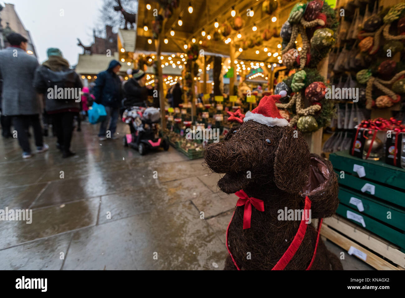 Shoppers And Revellers At Manchester Christmas Markets Around The City, Manchester, England, UK - Stock Image