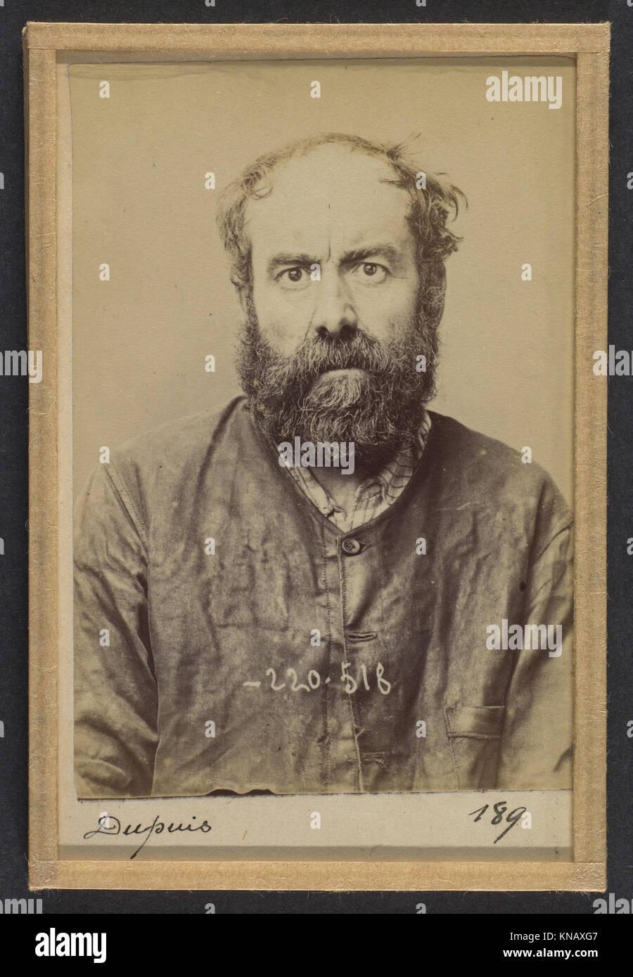 Dupuis. Augustin. 53 ans, né le 24-6-41 à Dourdan (Seine & Oise). Charron, forgeron. Anarchiste. 3-7-94. MET DP289869 Stock Photo