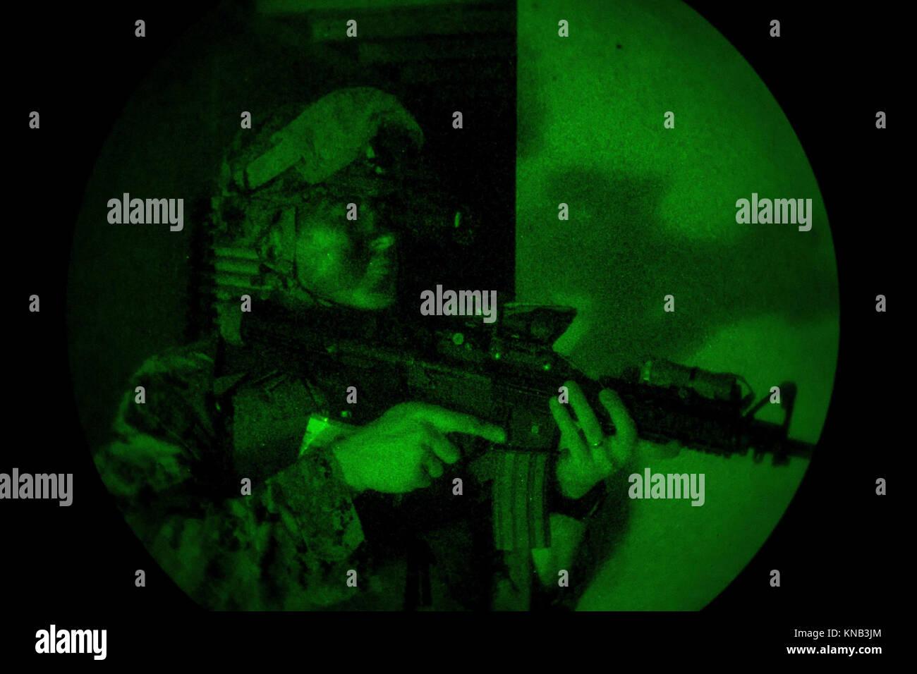 A U.S. Marine with Battalion Landing Team, 2nd Battalion, 6th Marine Regiment, 26th Marine Expeditionary Unit (MEU), Stock Photo