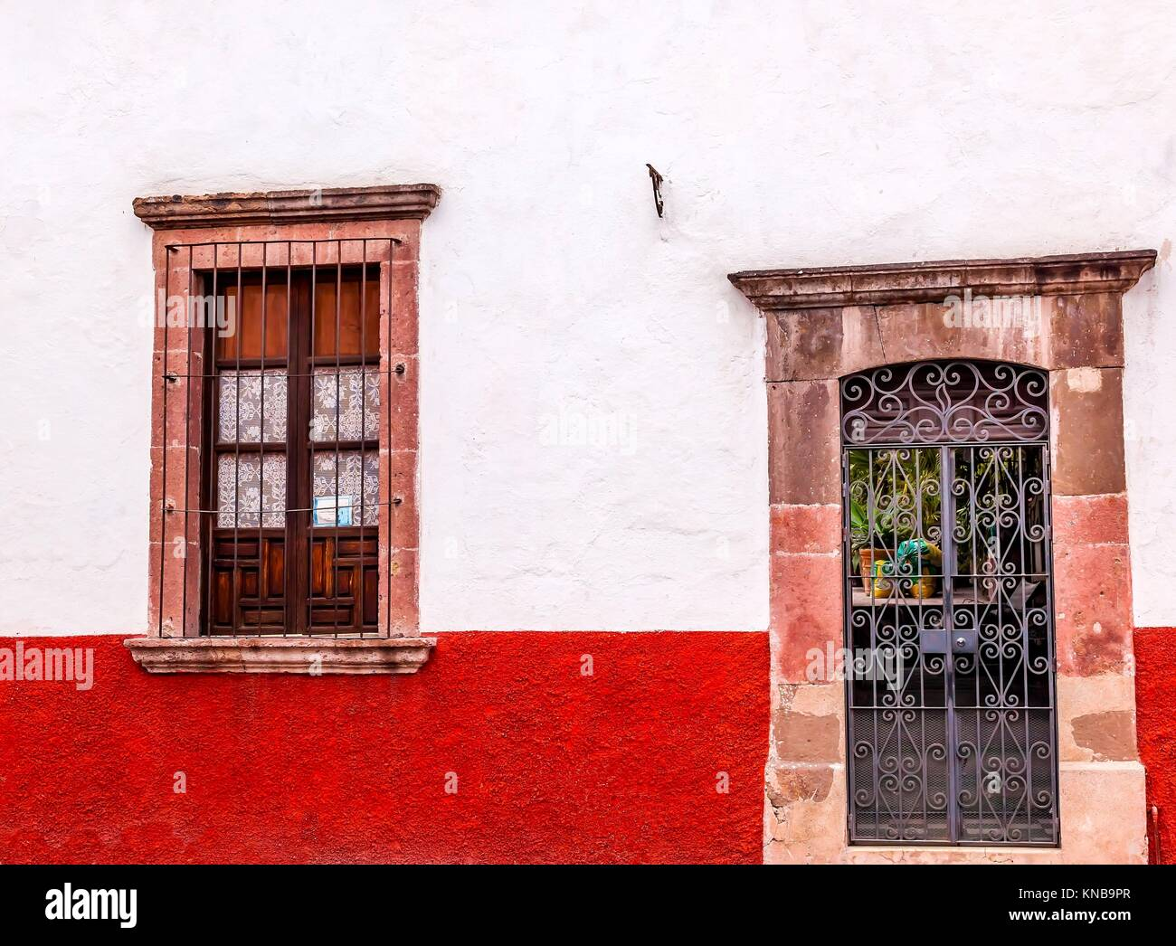 Front Red Door Open Stock Photos Front Red Door Open Stock Images
