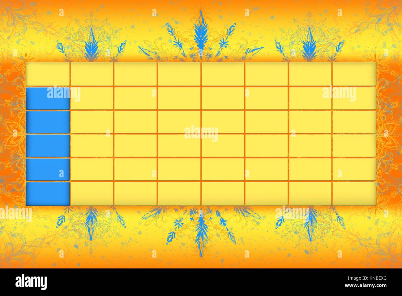 School Timetable Schedule With Colorfull Background 3D illustration. - Stock Image