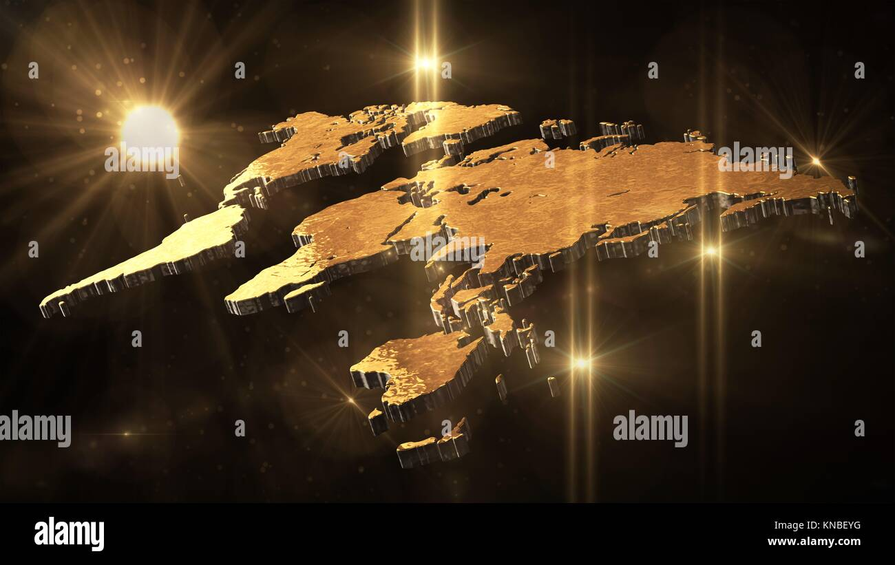 Black Gold World Globe Illustration Stock Photos Black Gold World - Black and gold world map