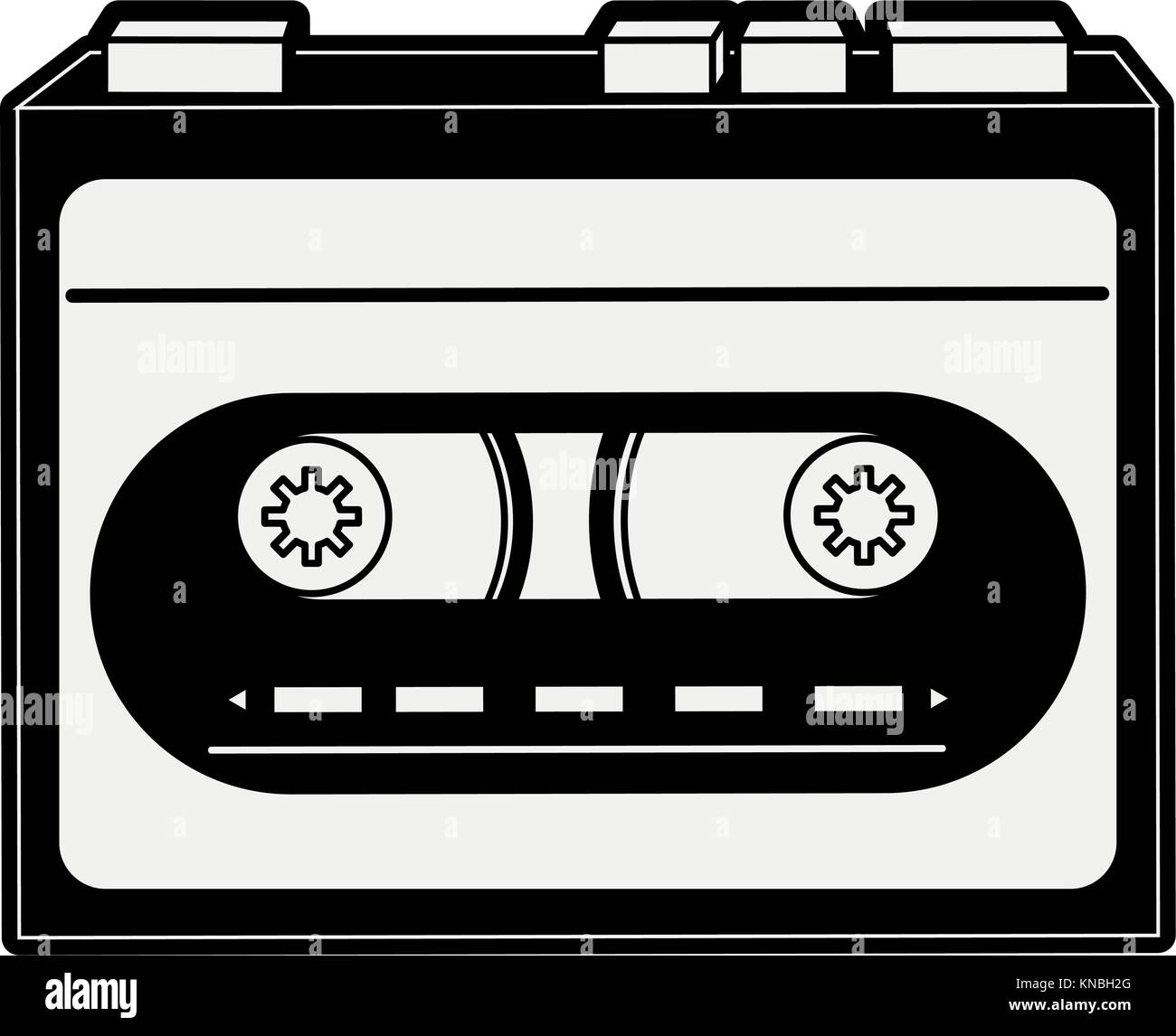 Old cassette recorder - Stock Image