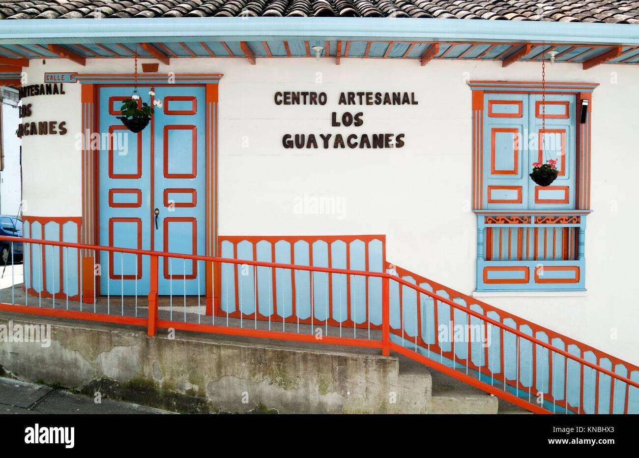 artisan centre in Salento, Colombia, South America. - Stock Image