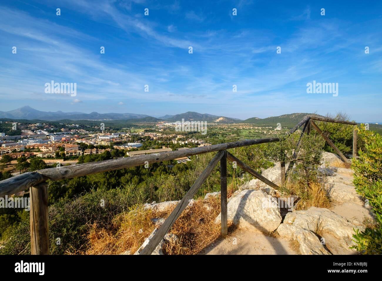 Parque arqueológico Puig de sa Morisca, Calviá, Mallorca, balearic islands, spain. - Stock Image