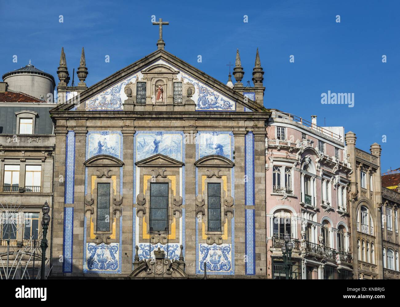 Saint Anthony's Church (also known as Church of the Congregates) in Santo Ildefonso civil parish of Porto city, - Stock Image