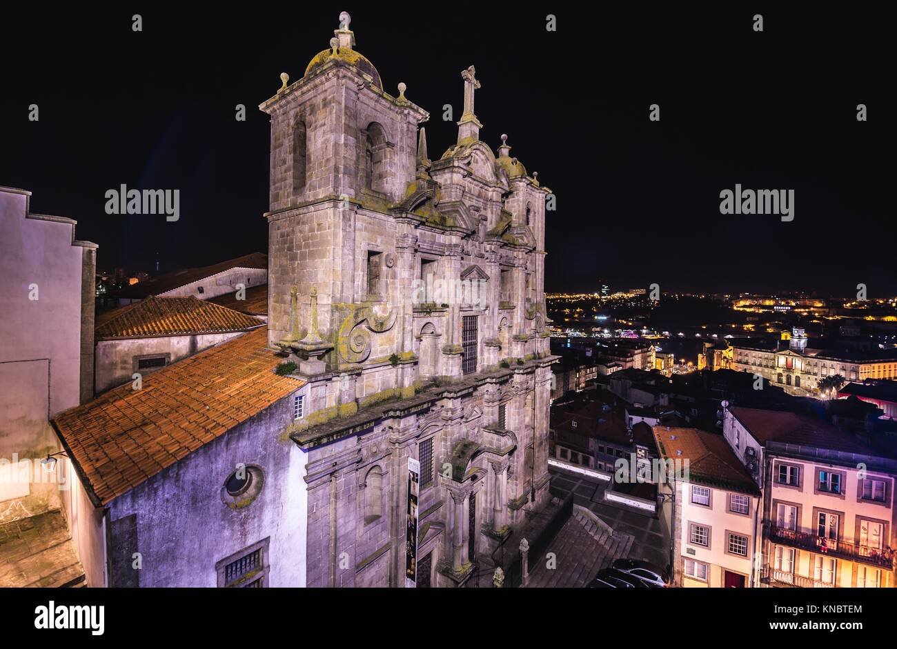 Igreja dos Grilos church and convent (literally Cricket's Church) in Porto city on Iberian Peninsula, second largest Stock Photo