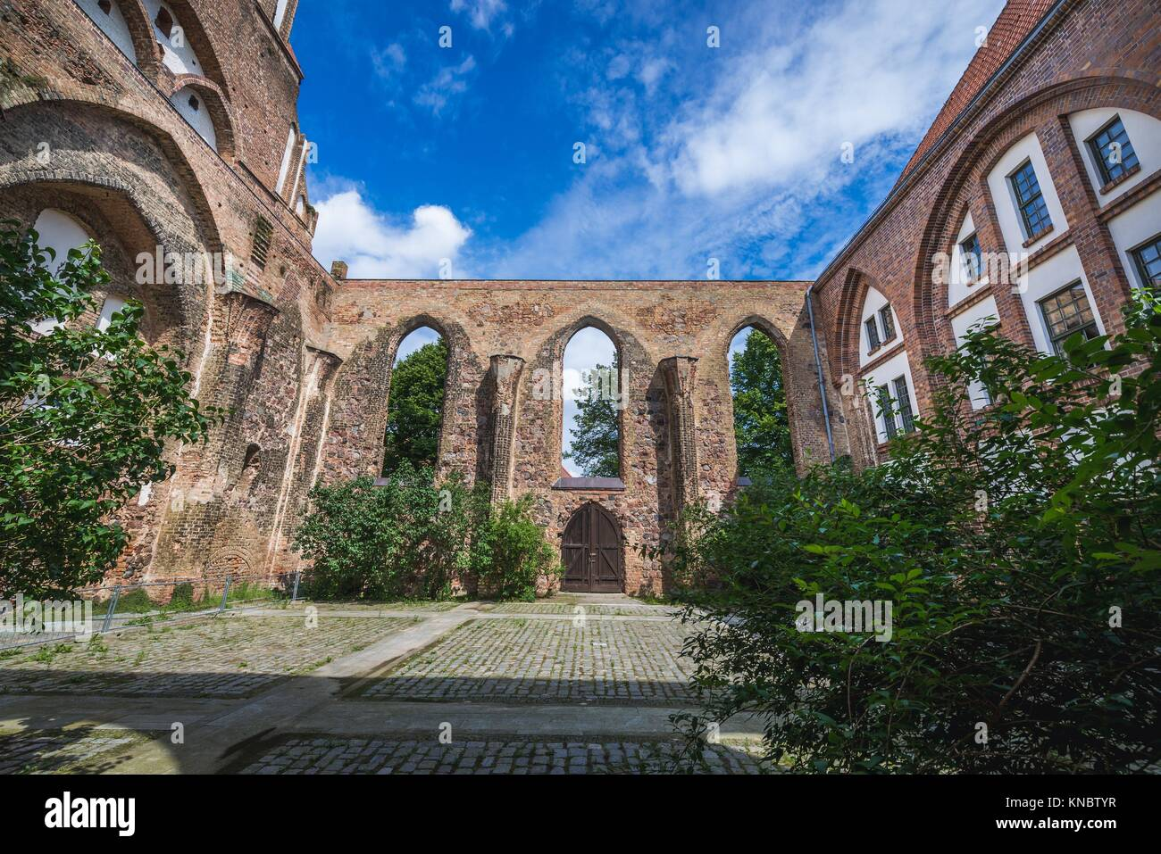 Saint Stephen Church in Gartz town in the Uckermark district of Brandenburg federal state in Germany. - Stock Image