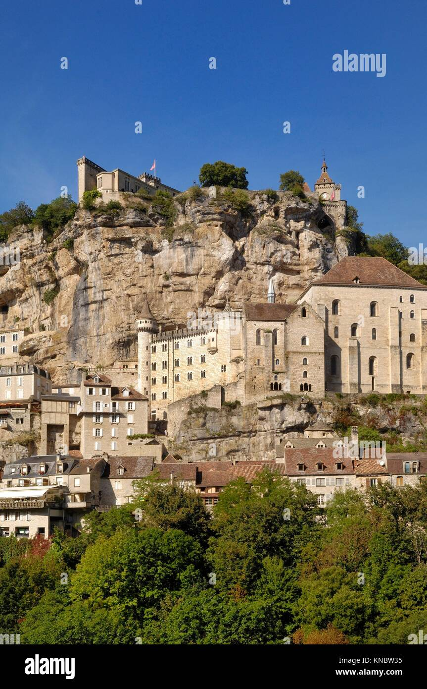 village of Rocamadour, Midi-Pyrenees, France. Stock Photo