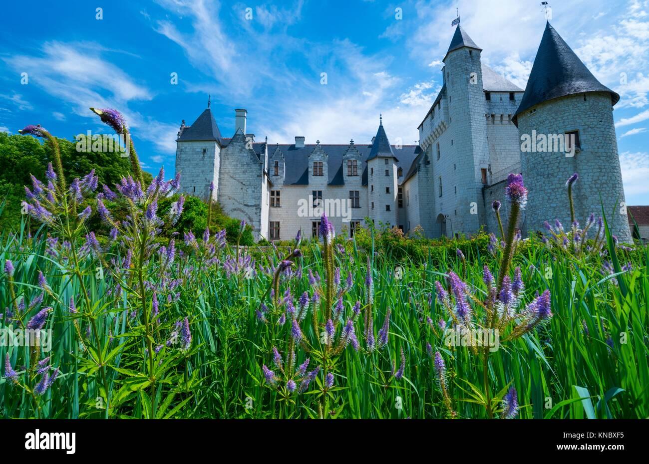 Rivau Castle, Lémeré, Indre-et-Loire Department, The Loire Valley, France, Europe. - Stock Image