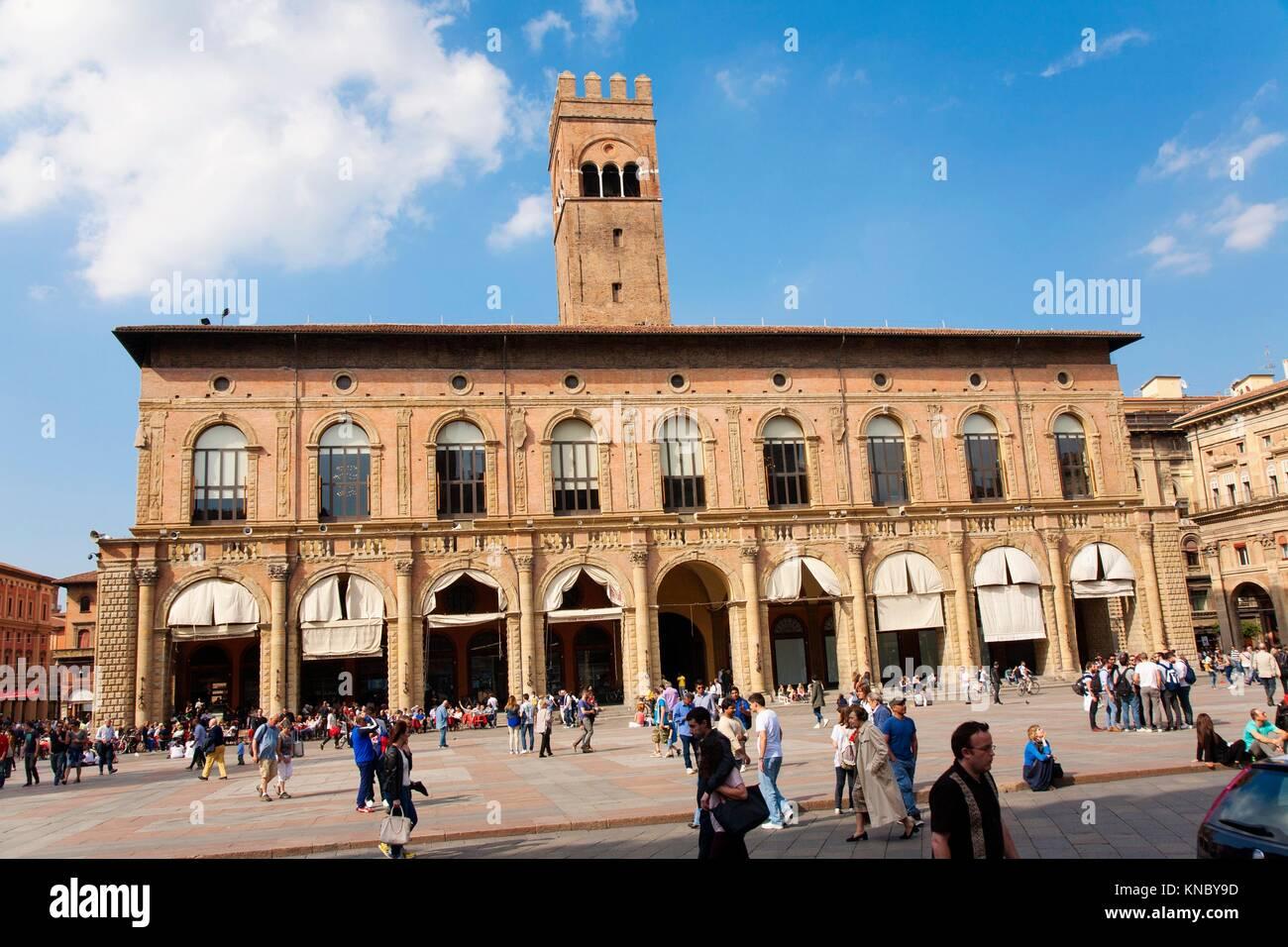 Palazzo re Enzo, Bologna, Italy. Stock Photo