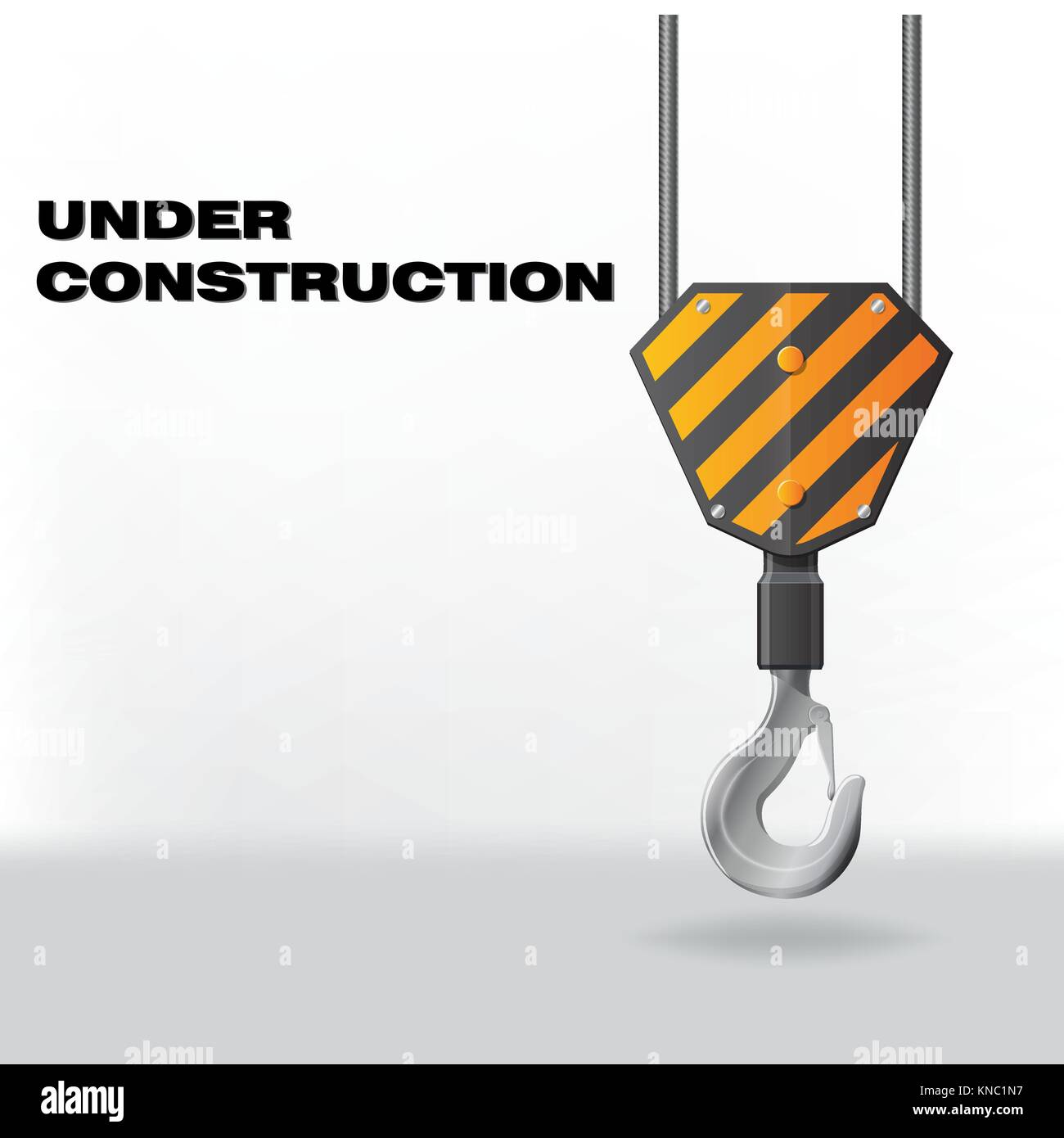 Under Construction with hook Stock Vector