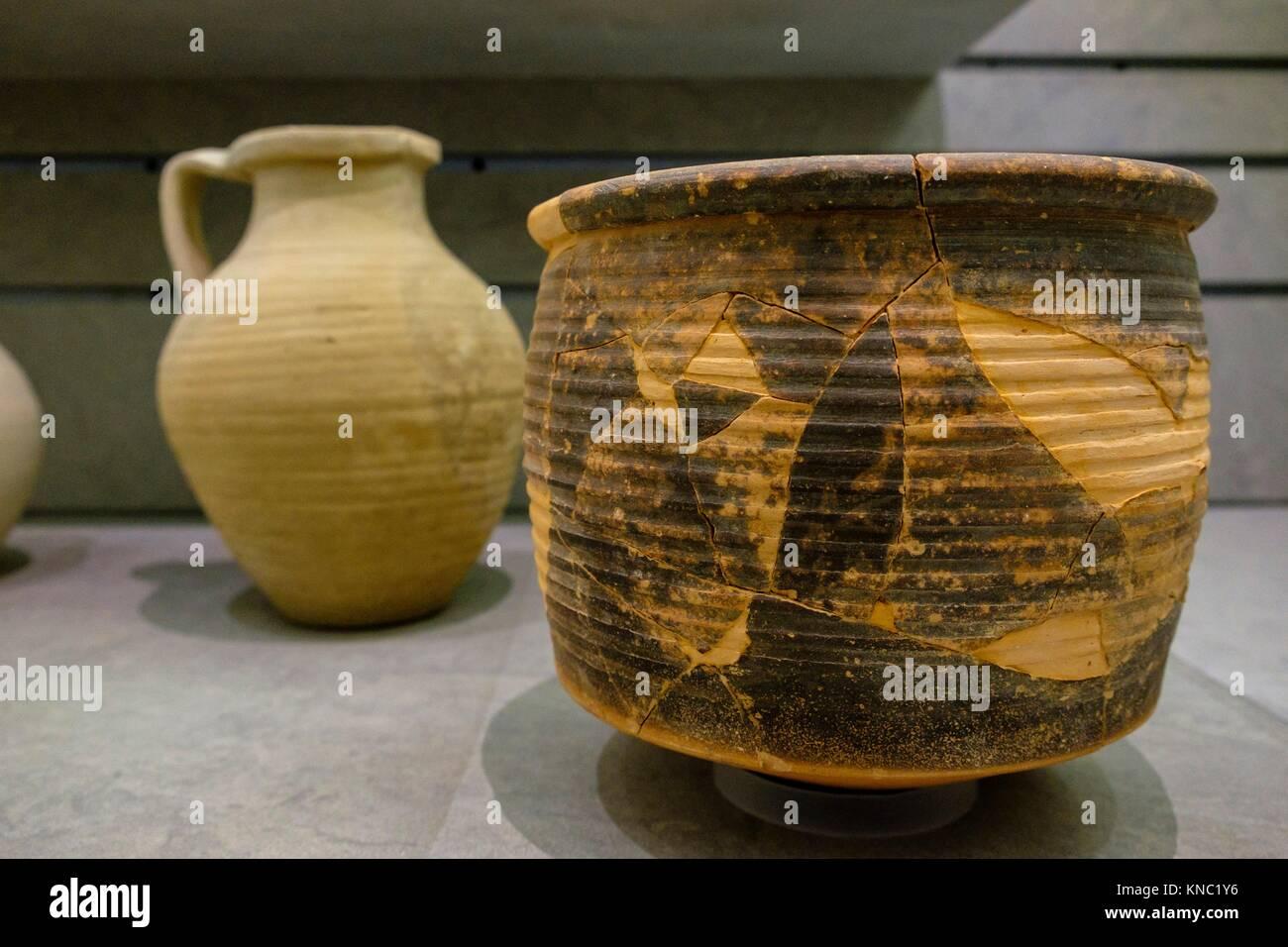 urna cinerària, 30 a. C-150 AD., Ibiza and Formentera Archeological Museum, Patrimonio de la Humanidad «Ibiza, - Stock Image