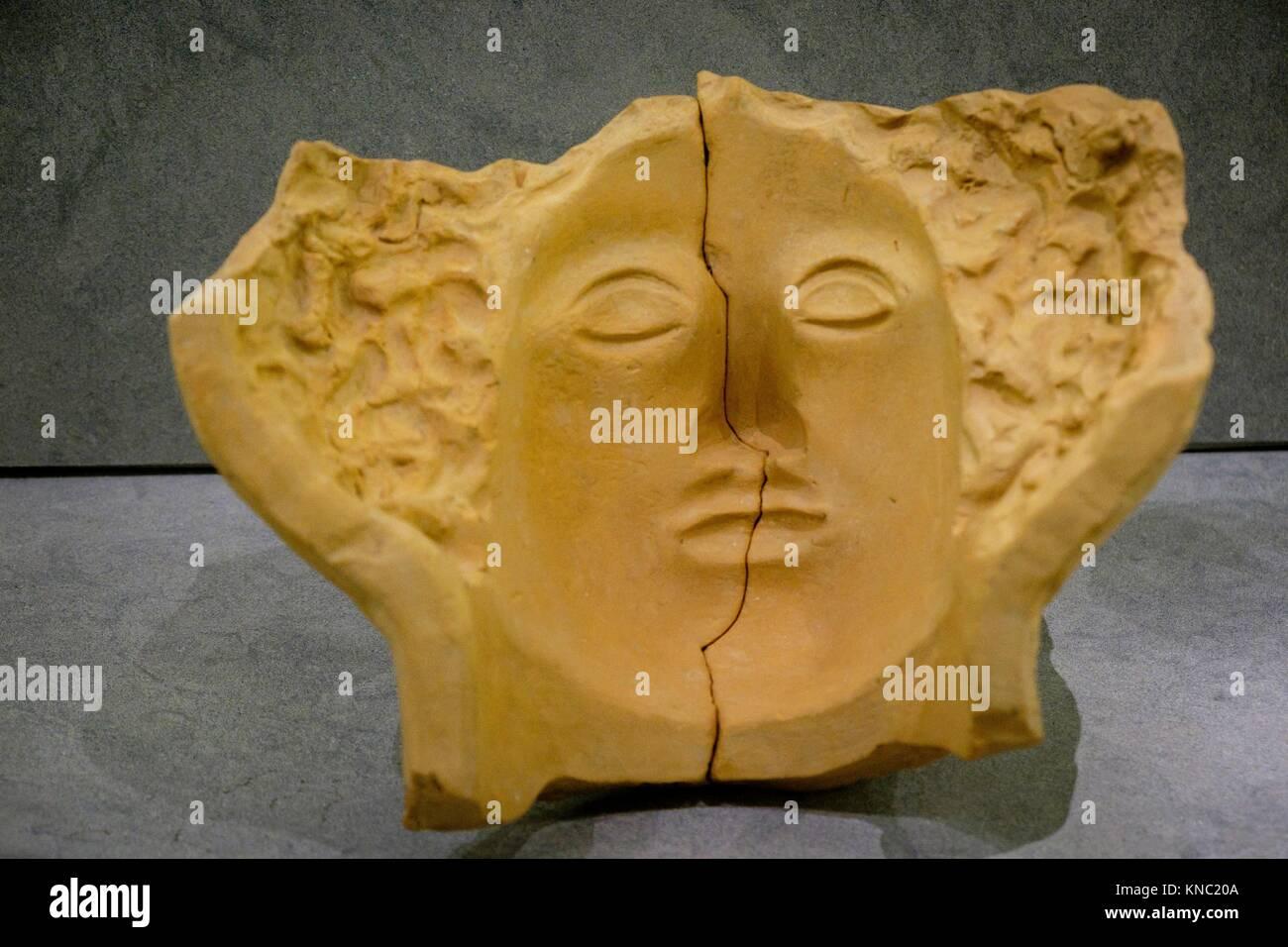 moldes y estampillas de alfarero, 425-100 b.C., Ibiza and Formentera Archeological Museum, Patrimonio de la Humanidad - Stock Image