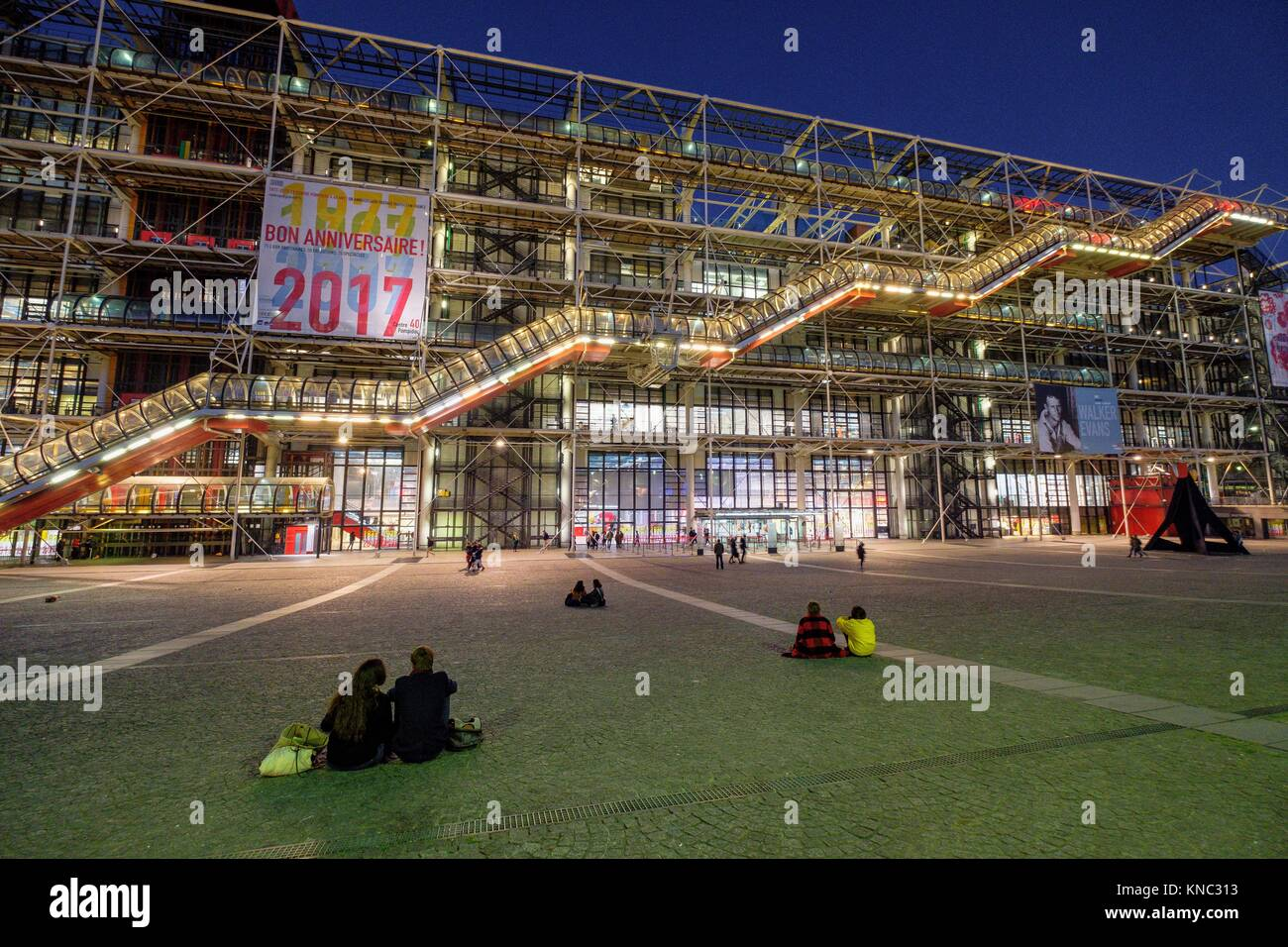 Centre national d'art et de culture Georges-Pompidou, Paris, France - Stock Image