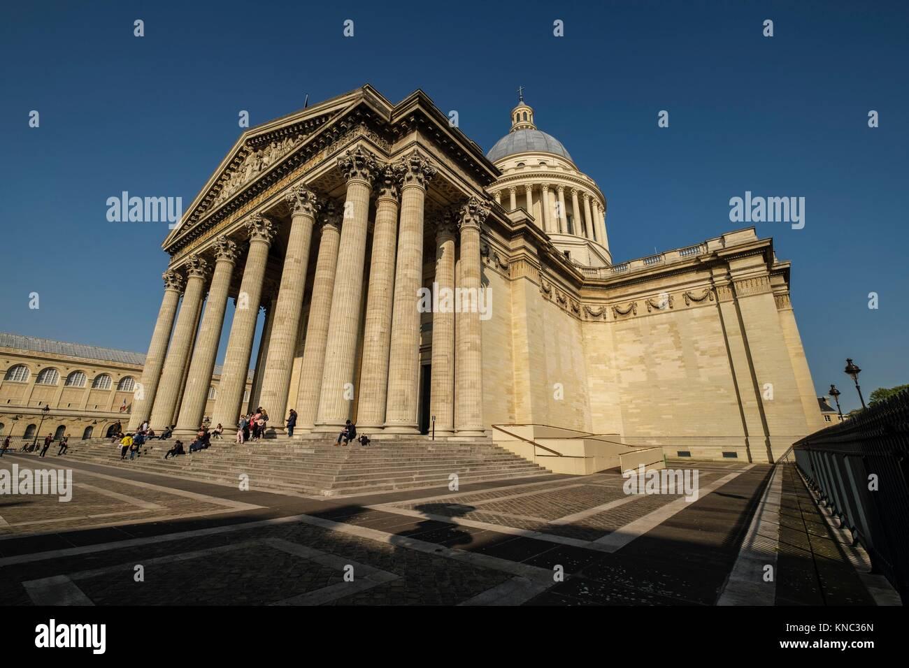 Panthéon, neoclassical monument, Paris, France - Stock Image
