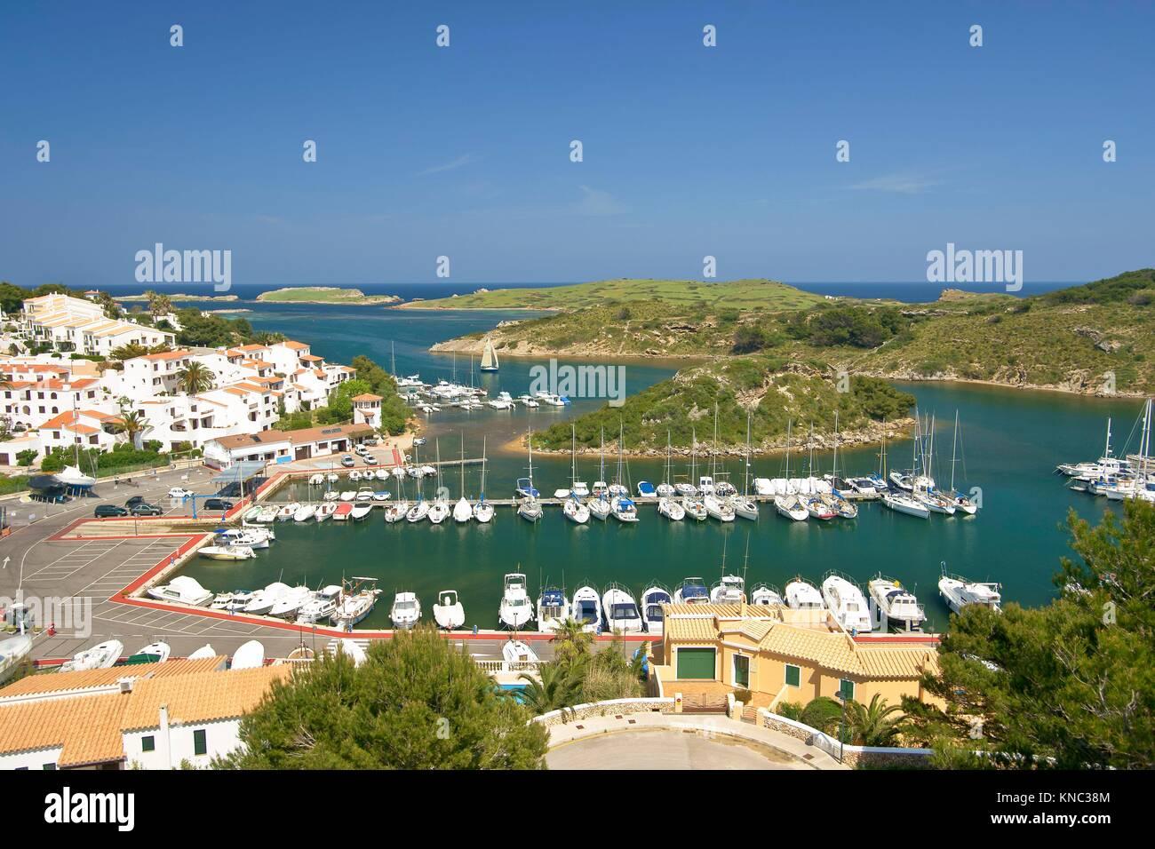 Puerto de Addaia. Minorca, Biosphere Reserve, Balearic Islands, Spain - Stock Image