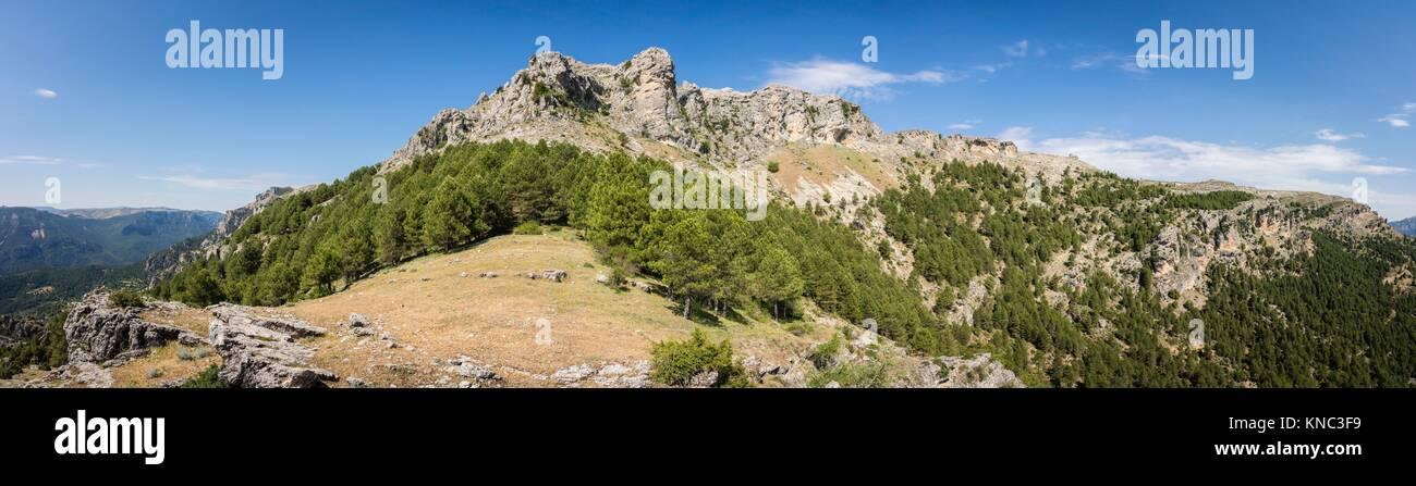 Loma del Calar de Cobo y Puntal de Misa, 1796 metros, Parque Natural de las Sierras de Cazorla, Segura y Las Villas, - Stock Image