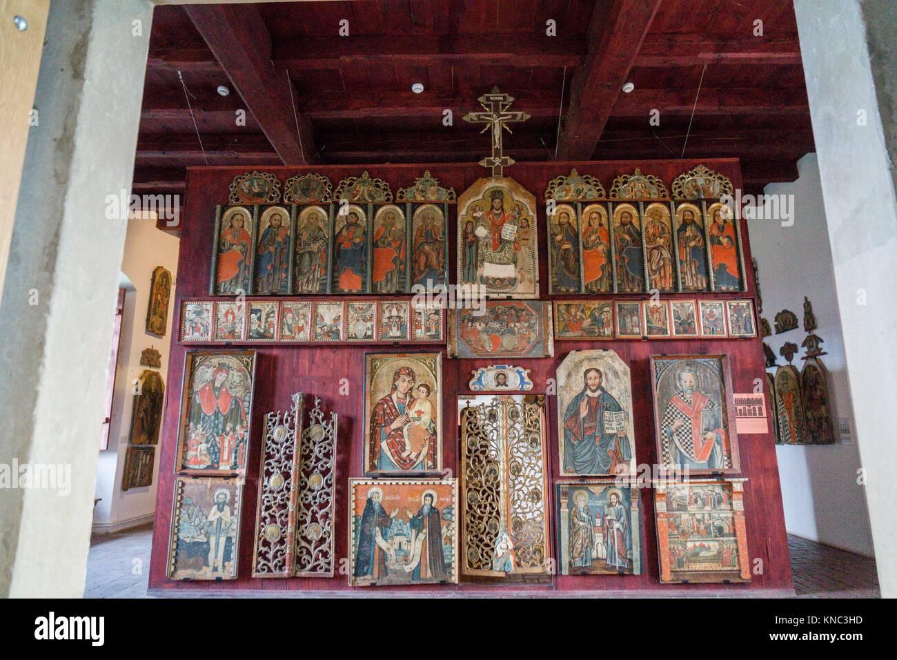 museo de los iconos, castillo Real, Sanok, Podkarpackie Voivodeship, Poland, Eastern Europe Stock Photo
