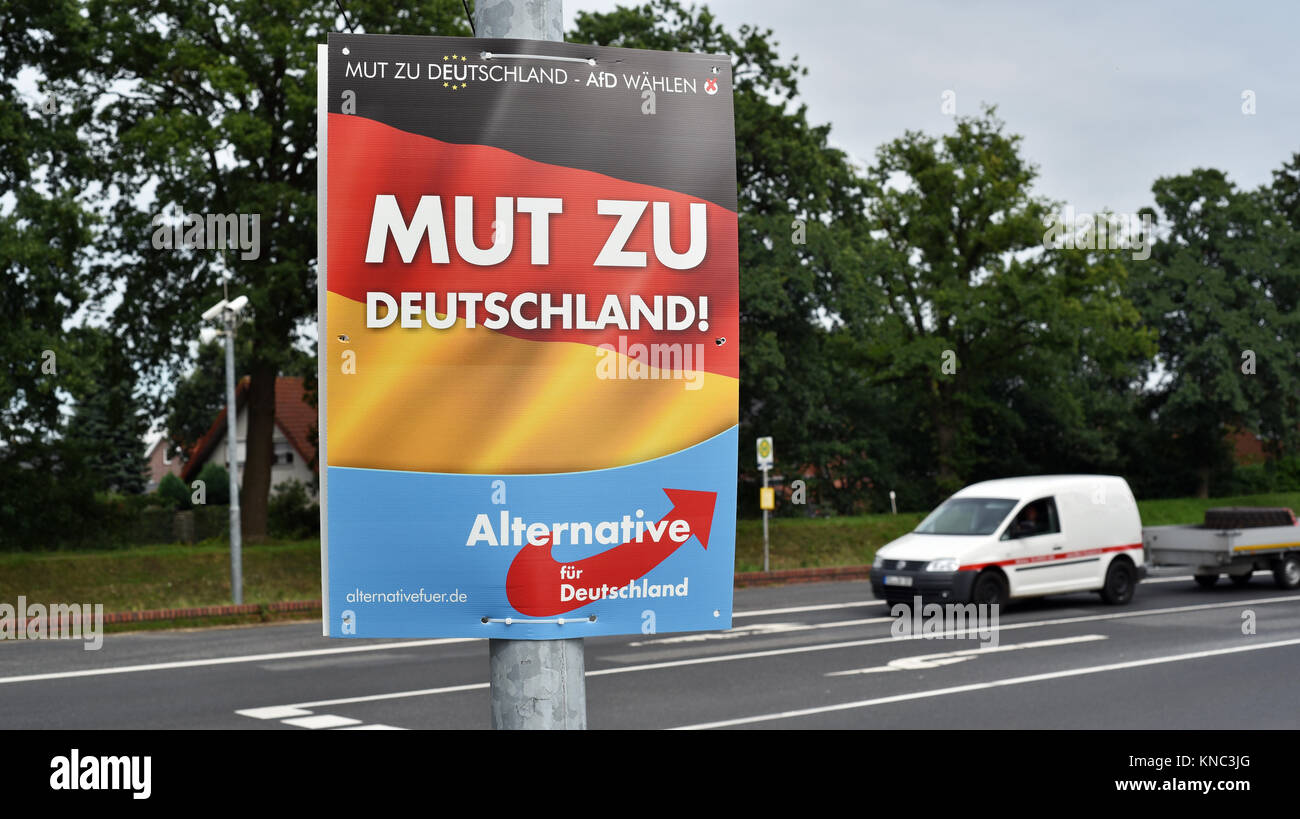 Election placard of political party Alternative for Germany - Stock Image