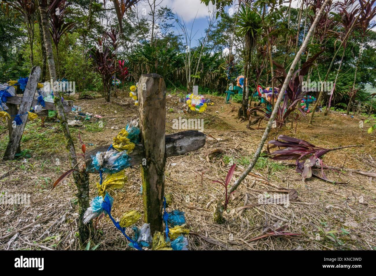 cementerio de Lancetillo, La Parroquia, zona Reyna, Quiche, Guatemala, Central America. - Stock Image