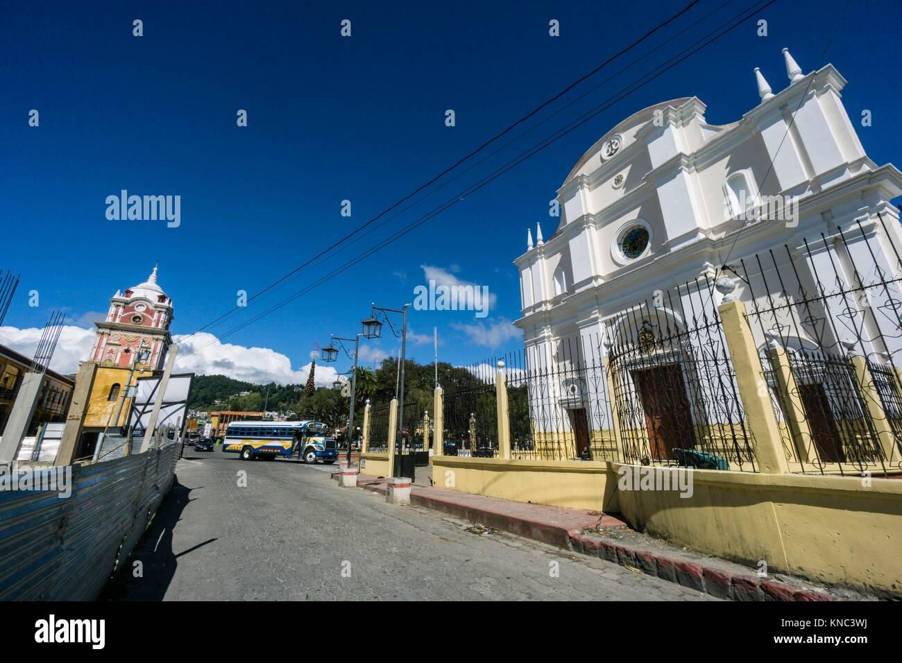 Catedral de Nuestra Señora de la Asunción de Sololá, Sololá, departamento de Sololá, lago - Stock Image