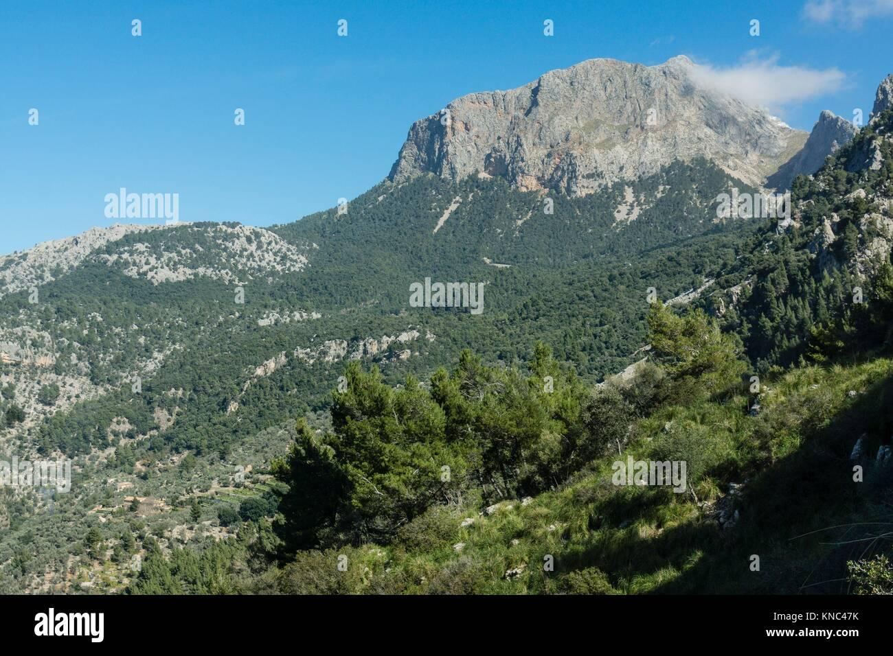 Portell de Sa Costa, Soller, parque natural sierra de Tramuntana, Mallorca, balearic islands, spain, europen. - Stock Image