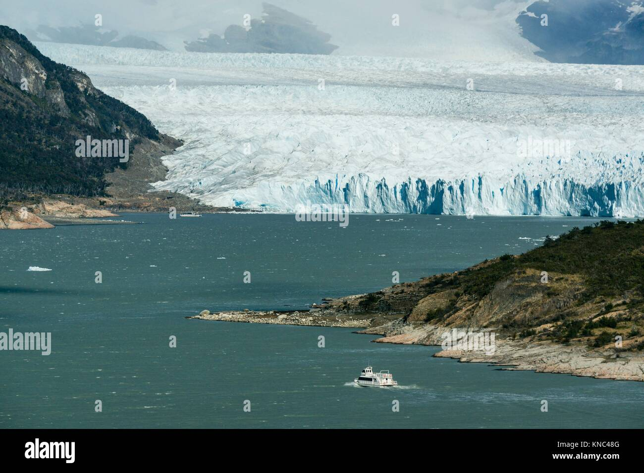glaciar Perito Moreno, Parque Nacional Los Glaciares, departamento Lago Argentino, provincia de Santa Cruz, Patagonia, - Stock Image