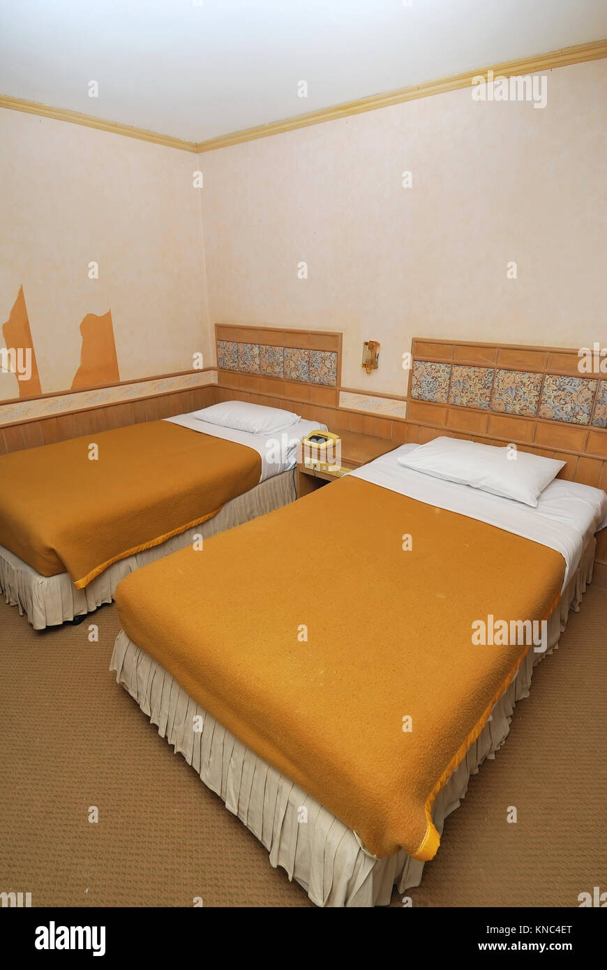 Picture of: Twin Beds Neatly Done Up In A High Class Hotel Room Suitable For Stock Photo Alamy