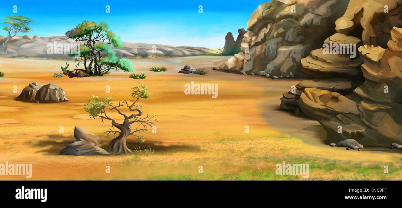 A Safari Cartoon Cute Animal Background African Savannah Landscape ... | 674x1300