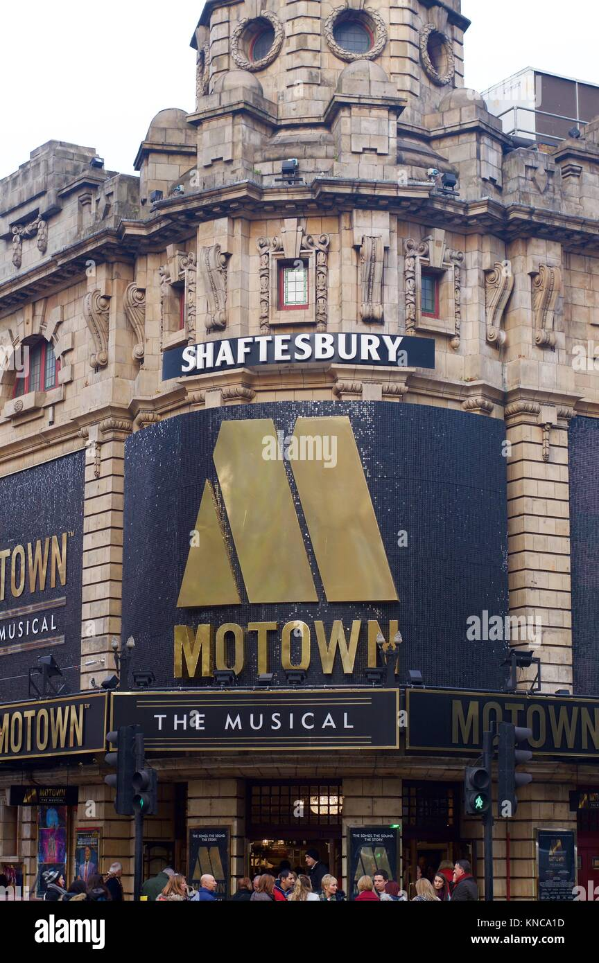 Motown the Musical at the Shaftesbury Theatre, London - Stock Image