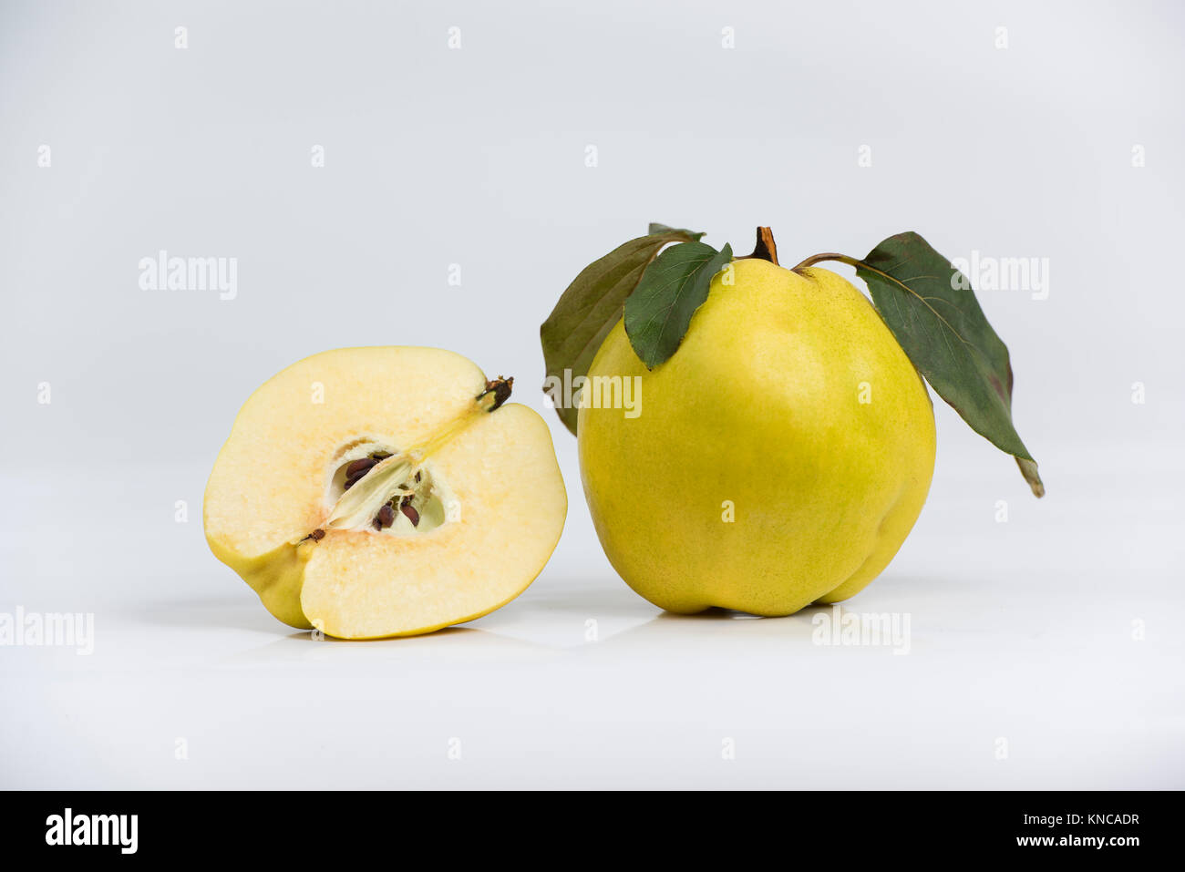 quinces isolated on the white background Stock Photo