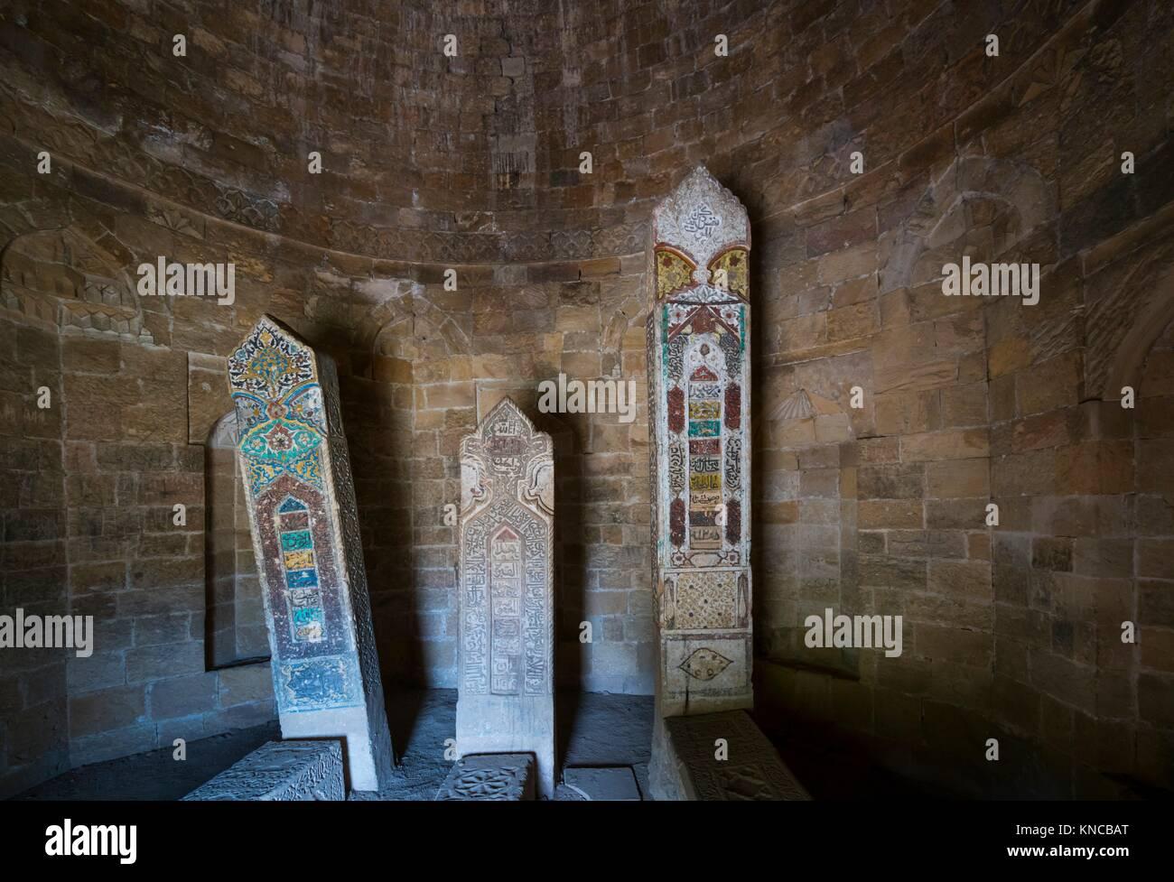 Yeddi Gumbaz Mausoleum, Shamakhi Town, Azerbaijan, Middle East. Stock Photo