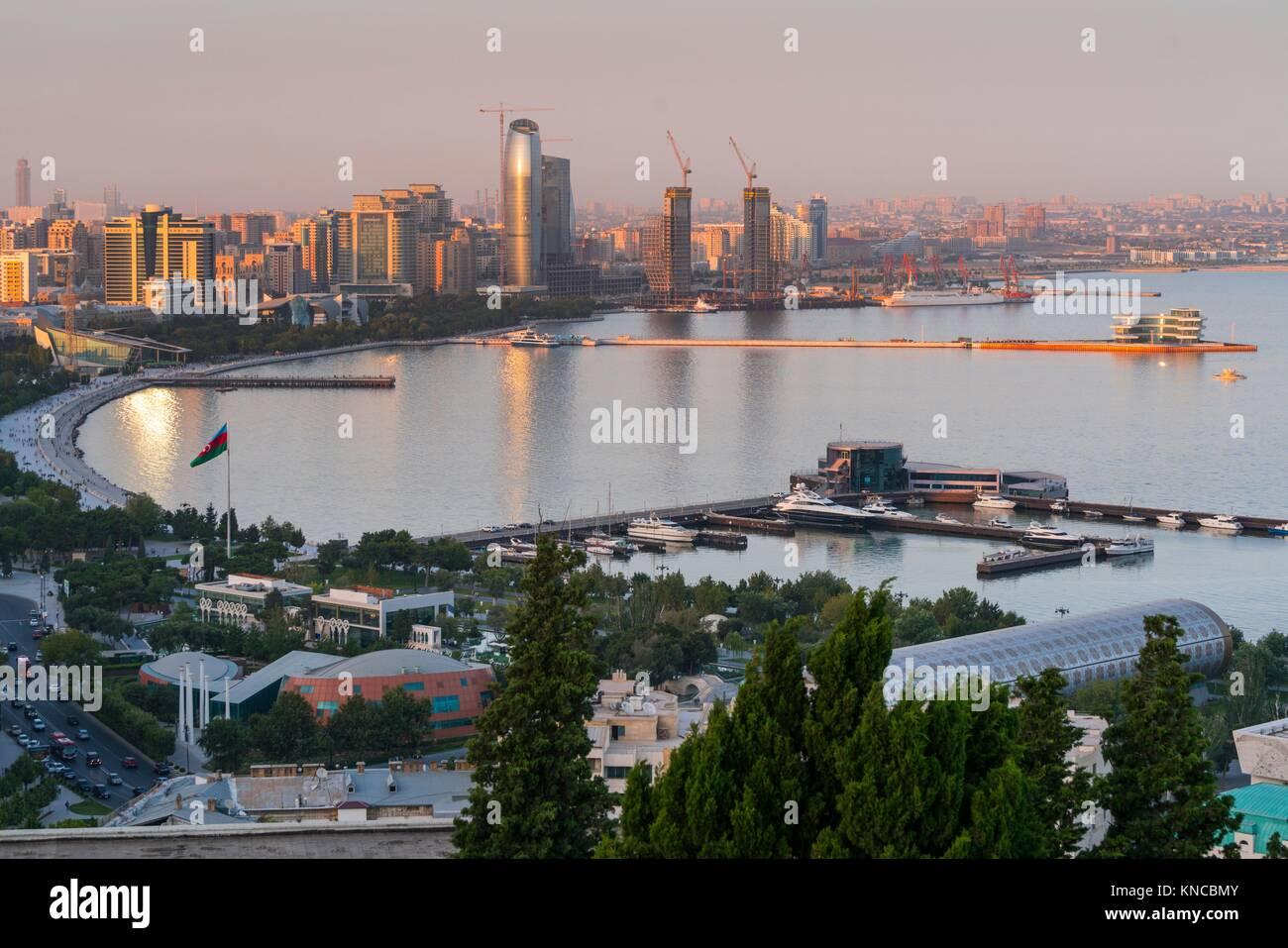 Baku City, Azerbaijan, Middle East. - Stock Image