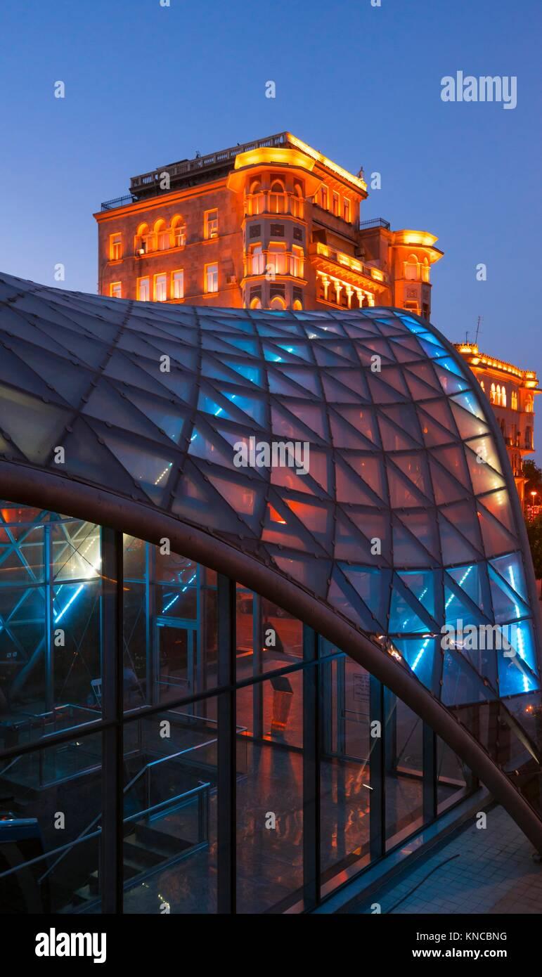Underground Station, Baku City, Azerbaijan, Middle East. Stock Photo