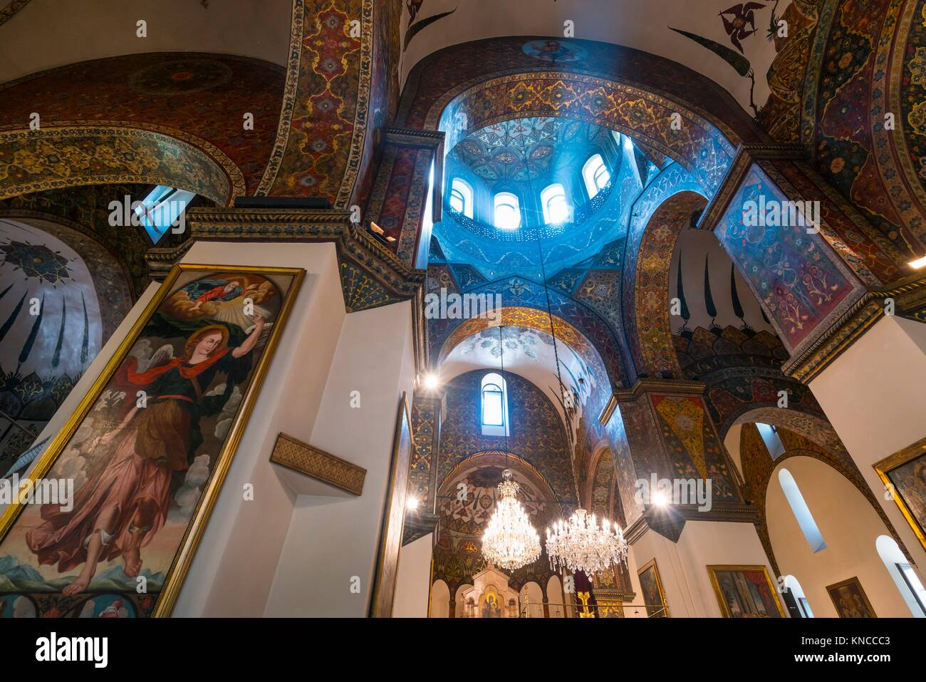 Etchmiadzin Cathedral, Etchmiadzin City, Armavir Province, Armenia, Middle East. - Stock Image