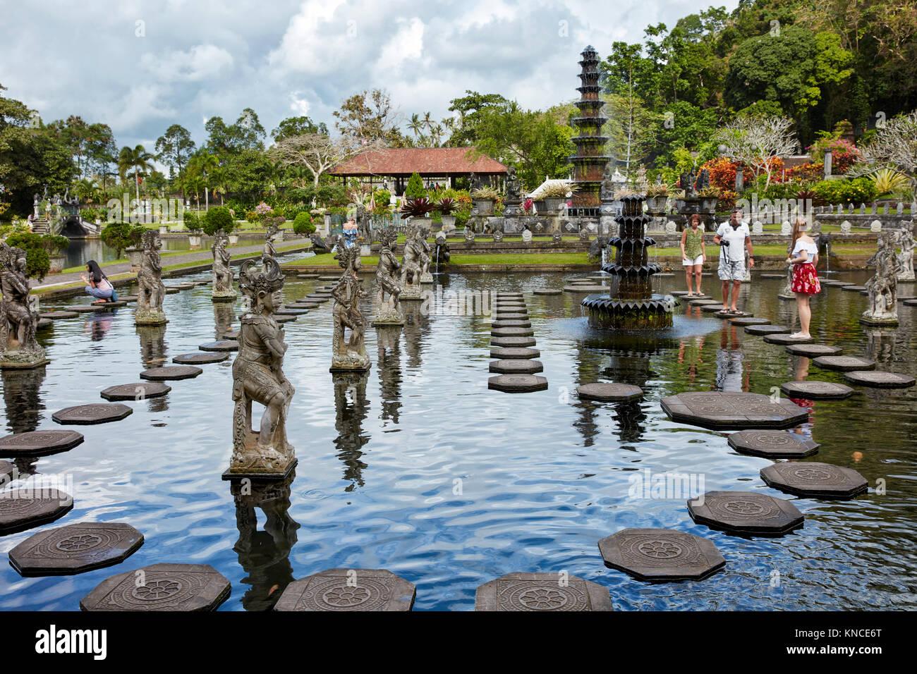 Tirta Gangga water palace, a former royal palace. Karangasem regency, Bali, Indonesia. - Stock Image